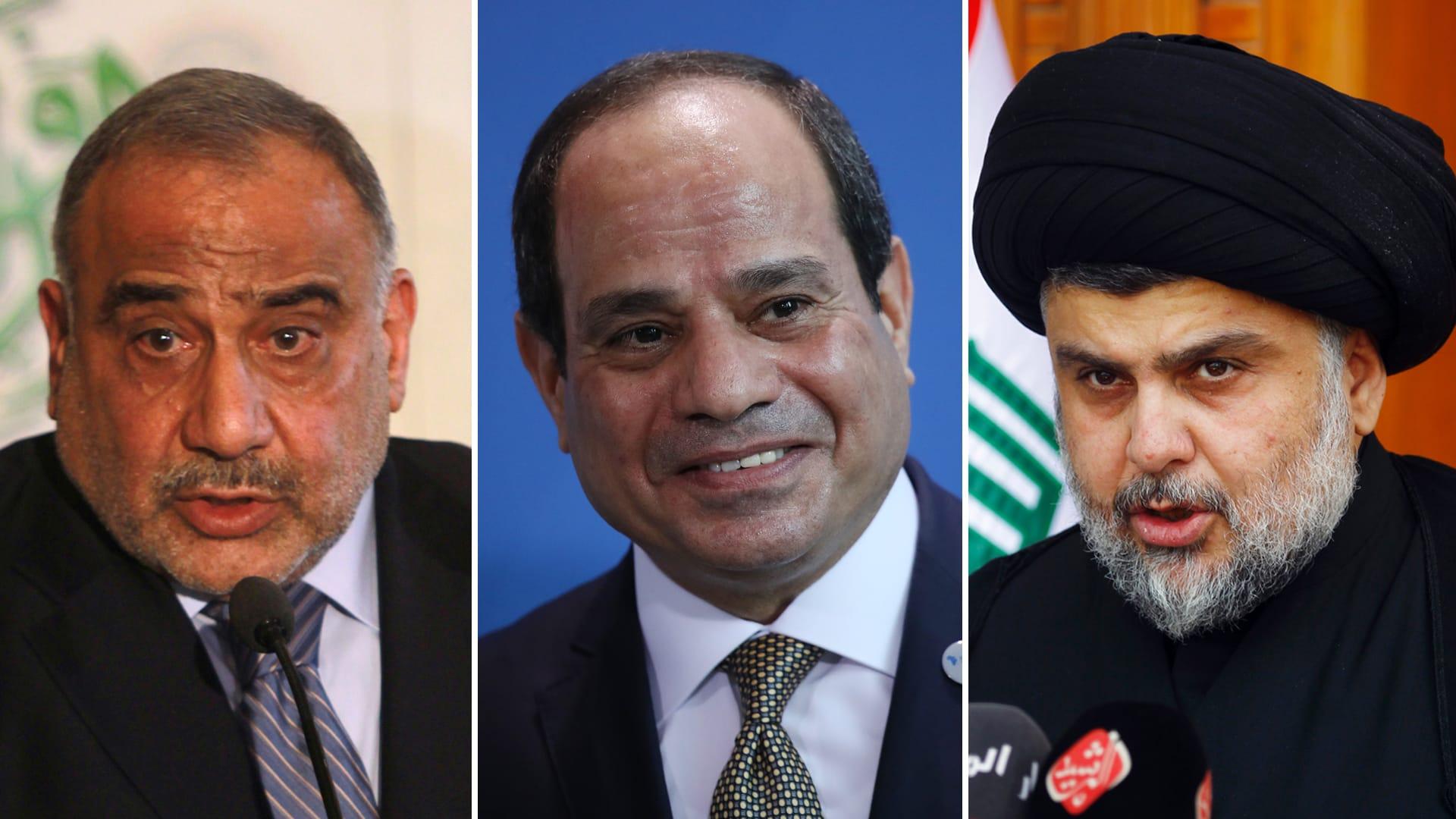 """بعدما وصفه الصدر بـ""""متسلط يخيط الدستور"""".. السيسي يتلقى اتصالا من رئيس وزراء العراق"""
