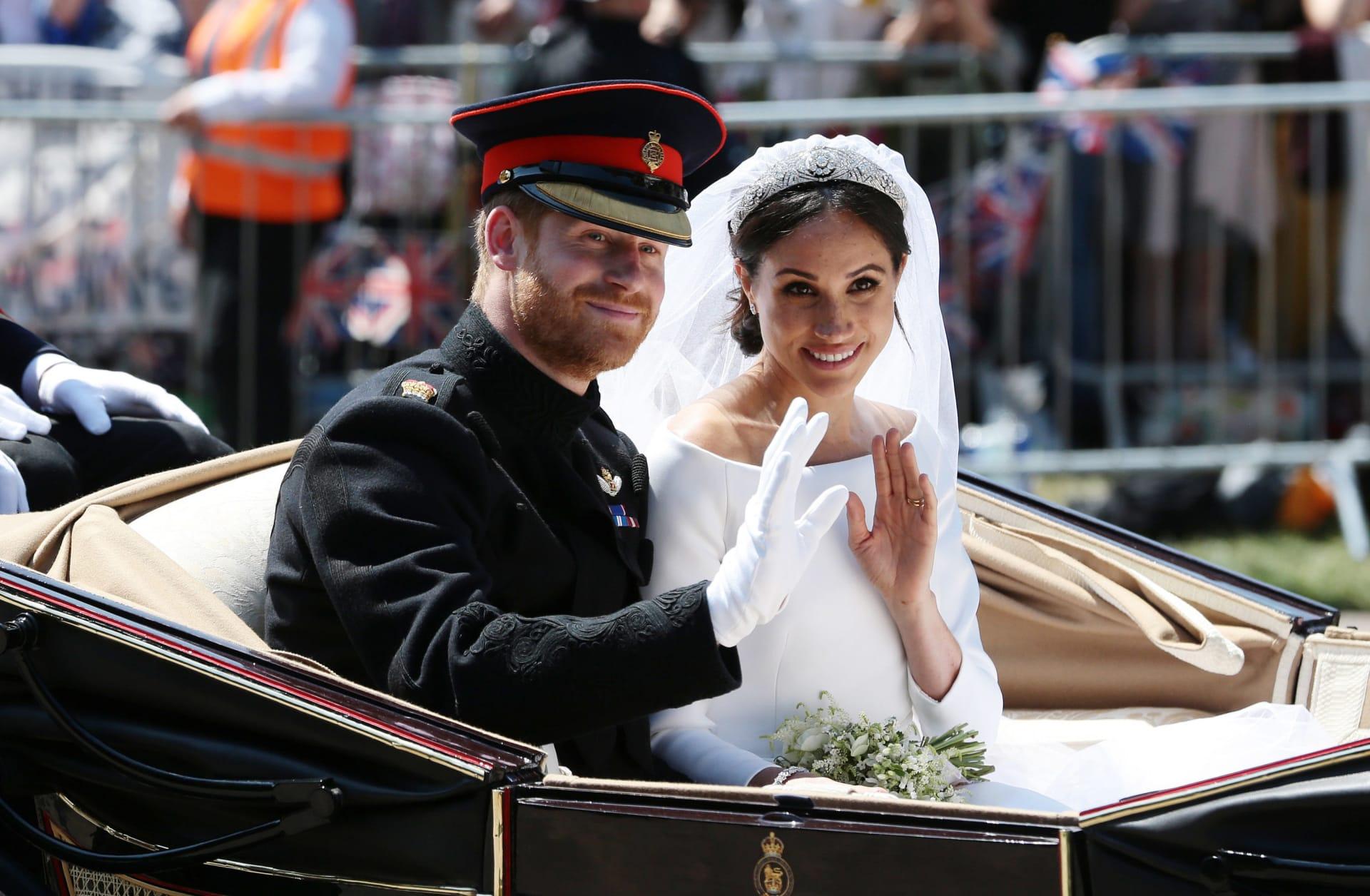 صور غير مرئية من وراء الكواليس لحفل زفاف الأمير هاري وميغان ماركل