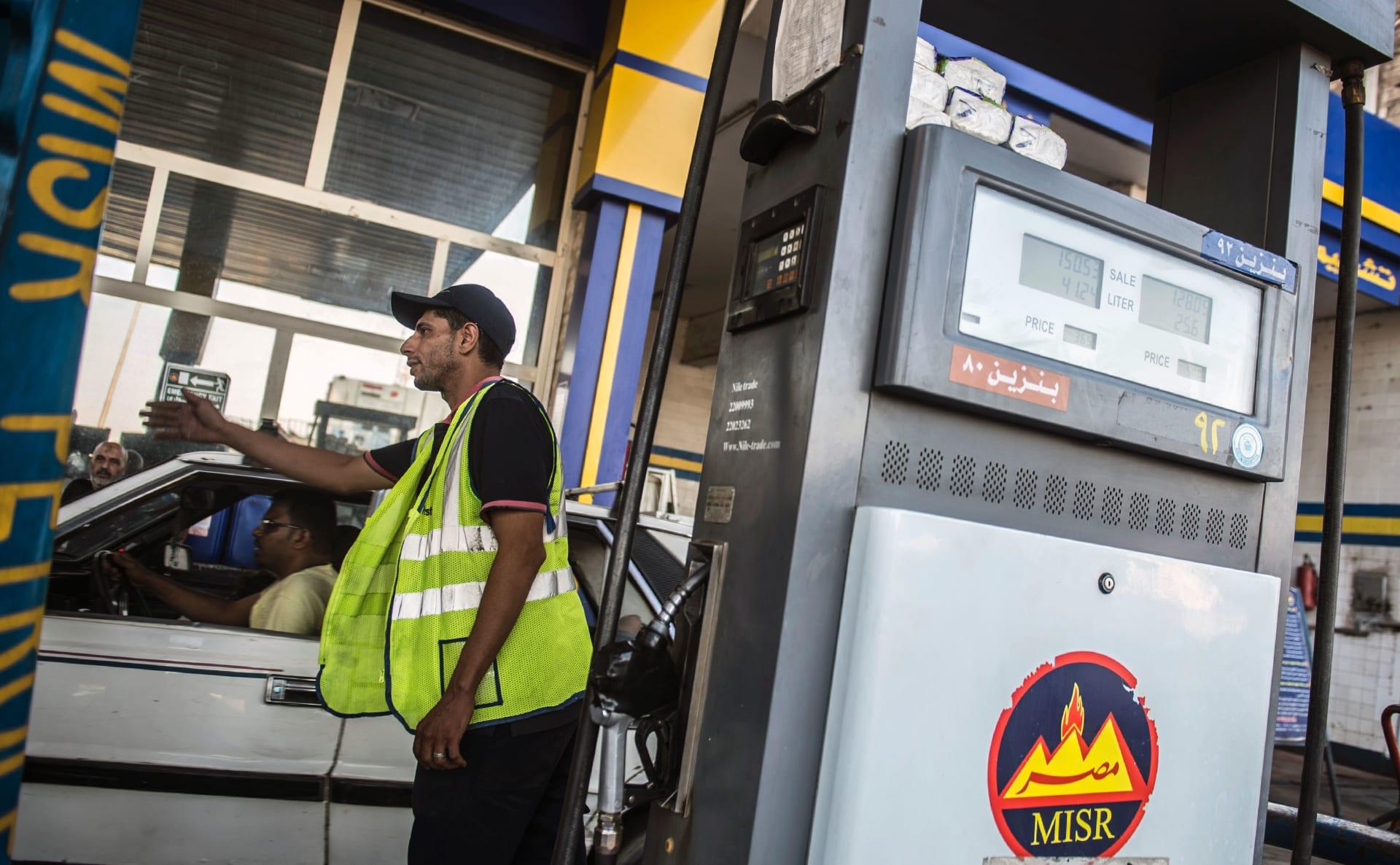 محطة بنزين في مصر