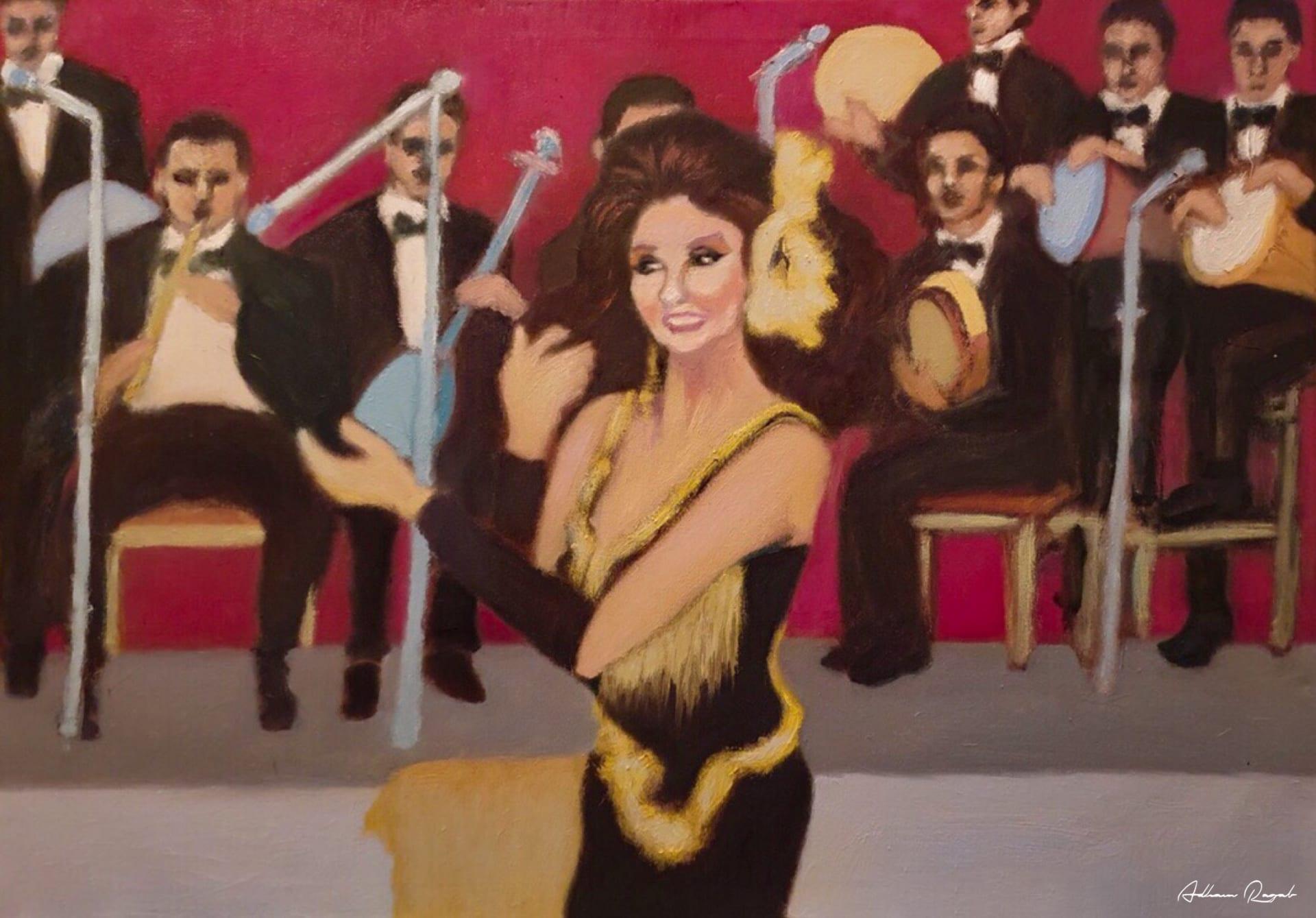 رسام مصري يعيد إحياء مشاهد الأفلام المصرية القديمة