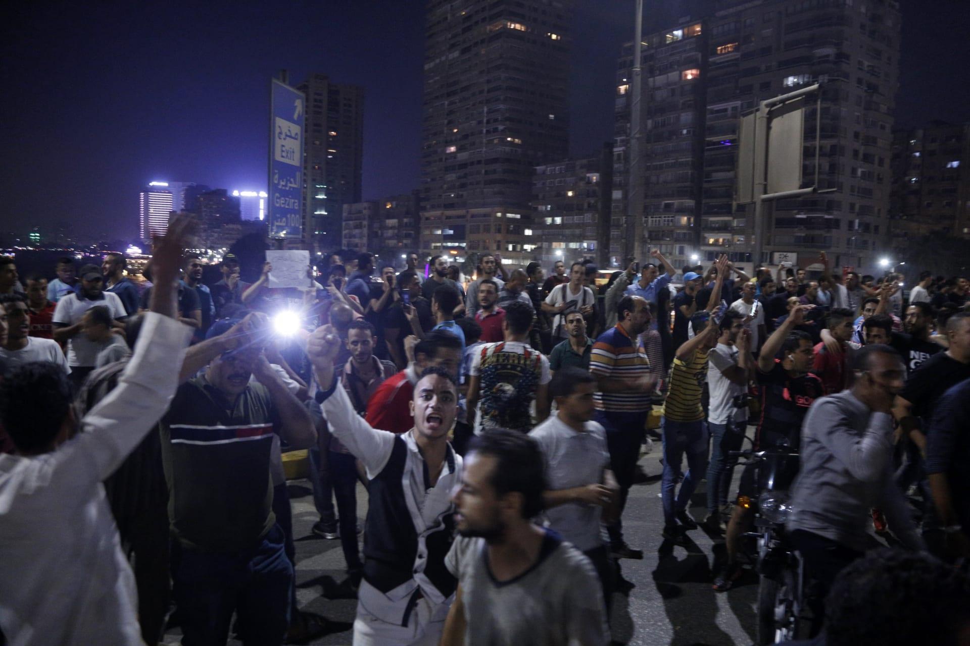 مظاهرات في ميدان التحرير ضد الرئيس المصري عبدالفتاح السيسي