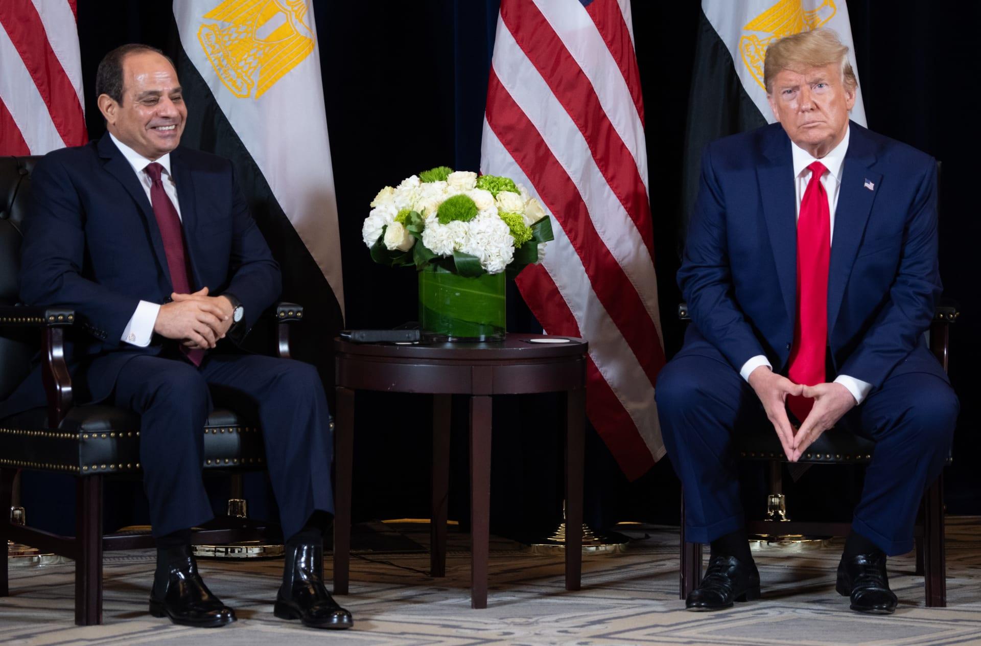 ترامب خلال لقاء مع السيسي في نيويورك على هامش الجمعية العامة للأمم المتحدة