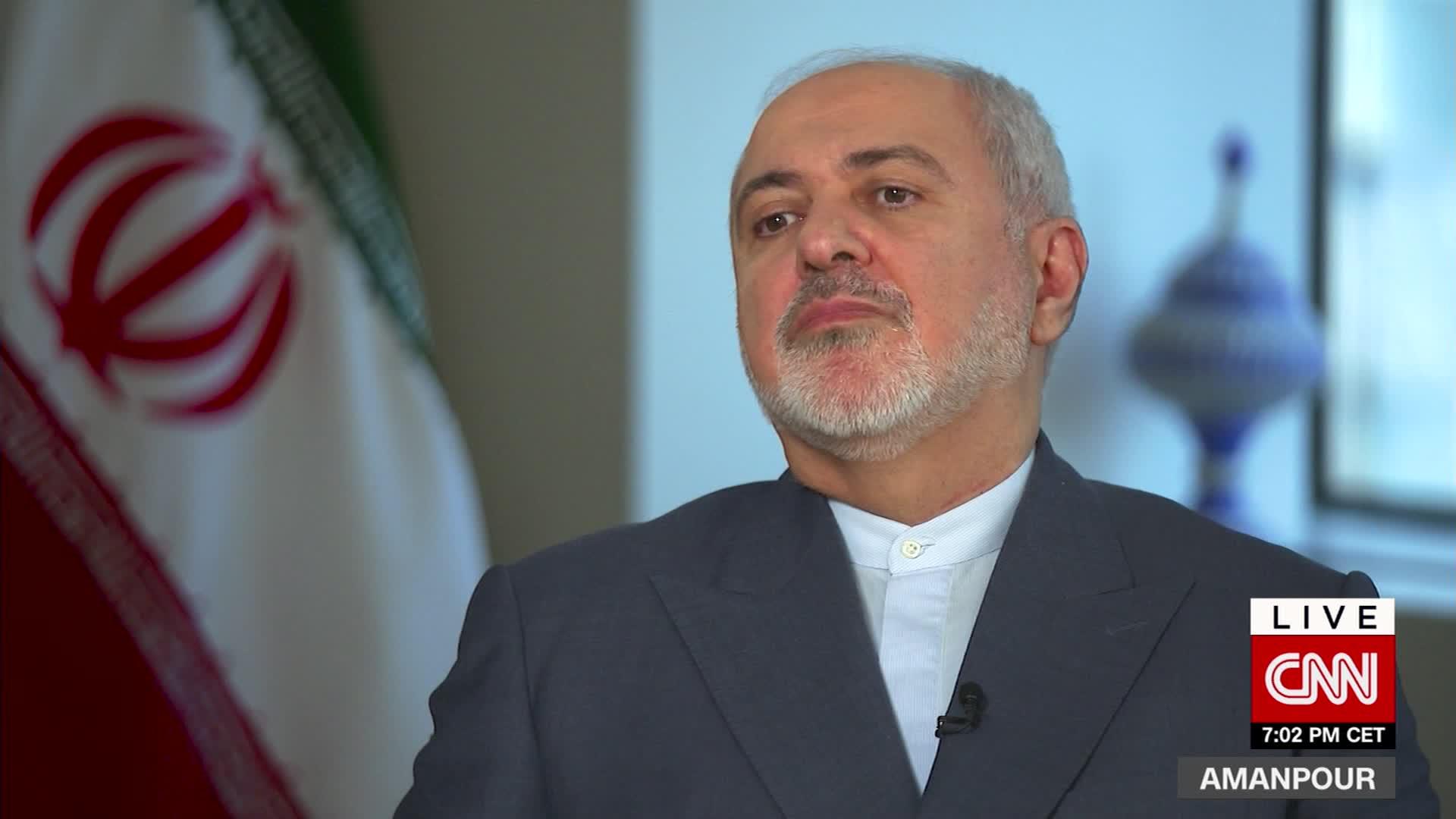 ظريف لـCNN: لو كانت إيران مسؤولة عن هجوم أرامكو لكانت كارثة للسعودية