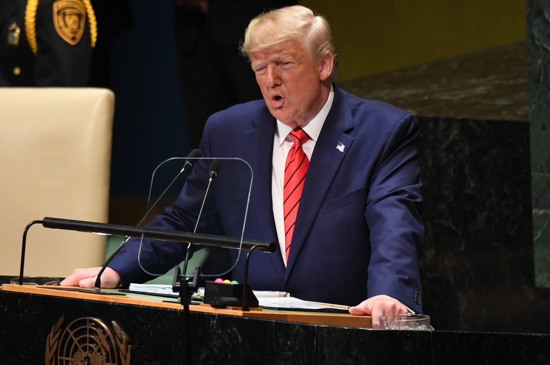 ترامب في الأمم المتحدة: النظام الإيراني قمعي يرفض السلام.. ولن نسمح بامتلاكه أسلحة نووية