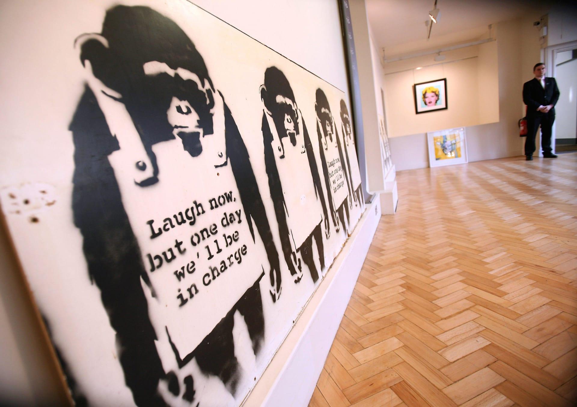 """لوحة بانكسي تخالف التوقعات وتباع بقيمة """"خيالية"""""""