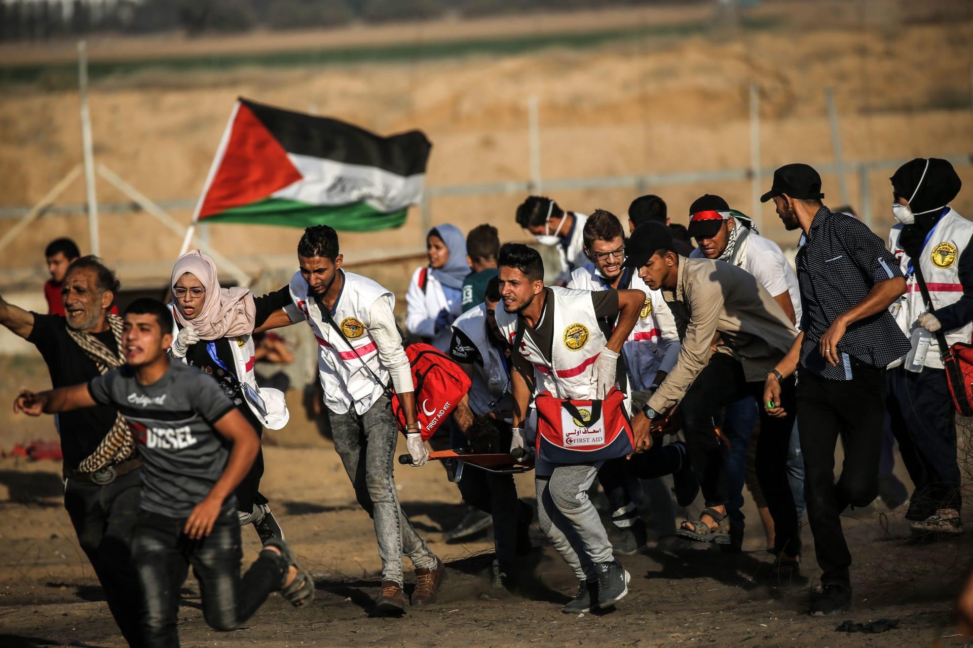 مقتل فلسطيني وإصابة 37 في مواجهات مع الجيش الإسرائيلي في غزة