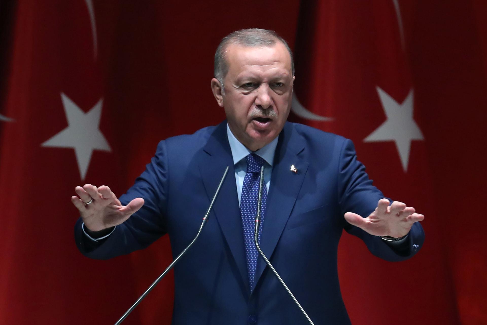 """أردوغان: عملية عسكرية """"اليوم أو غدًا"""" في شرق سوريا لإنشاء """"منطقة آمنة"""""""