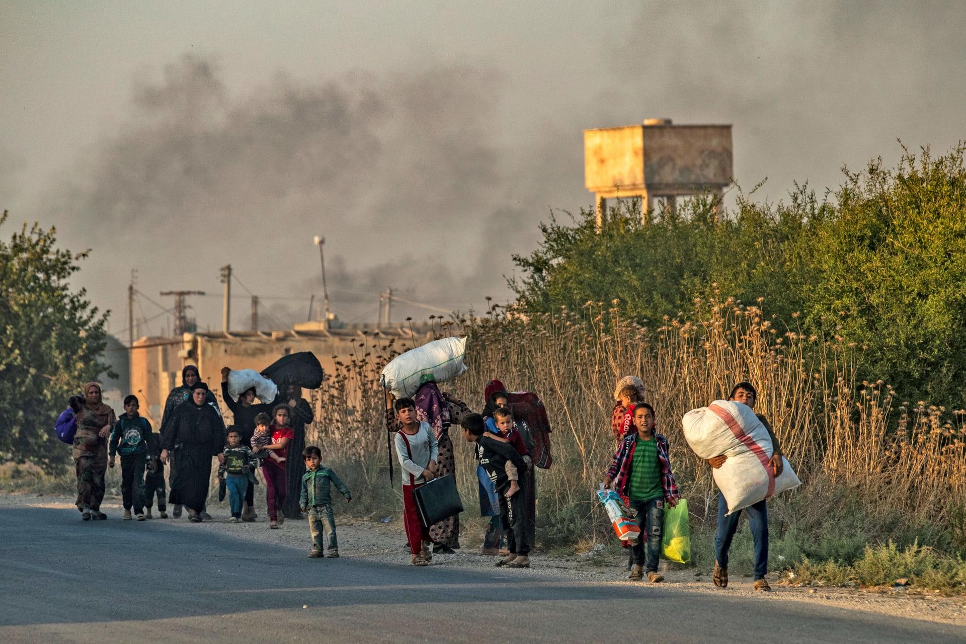 """""""قسد"""": مقتل 22 بينهم مقاتلون ونساء وأطفال خلال عملية """"نبع السلام"""" التركية"""