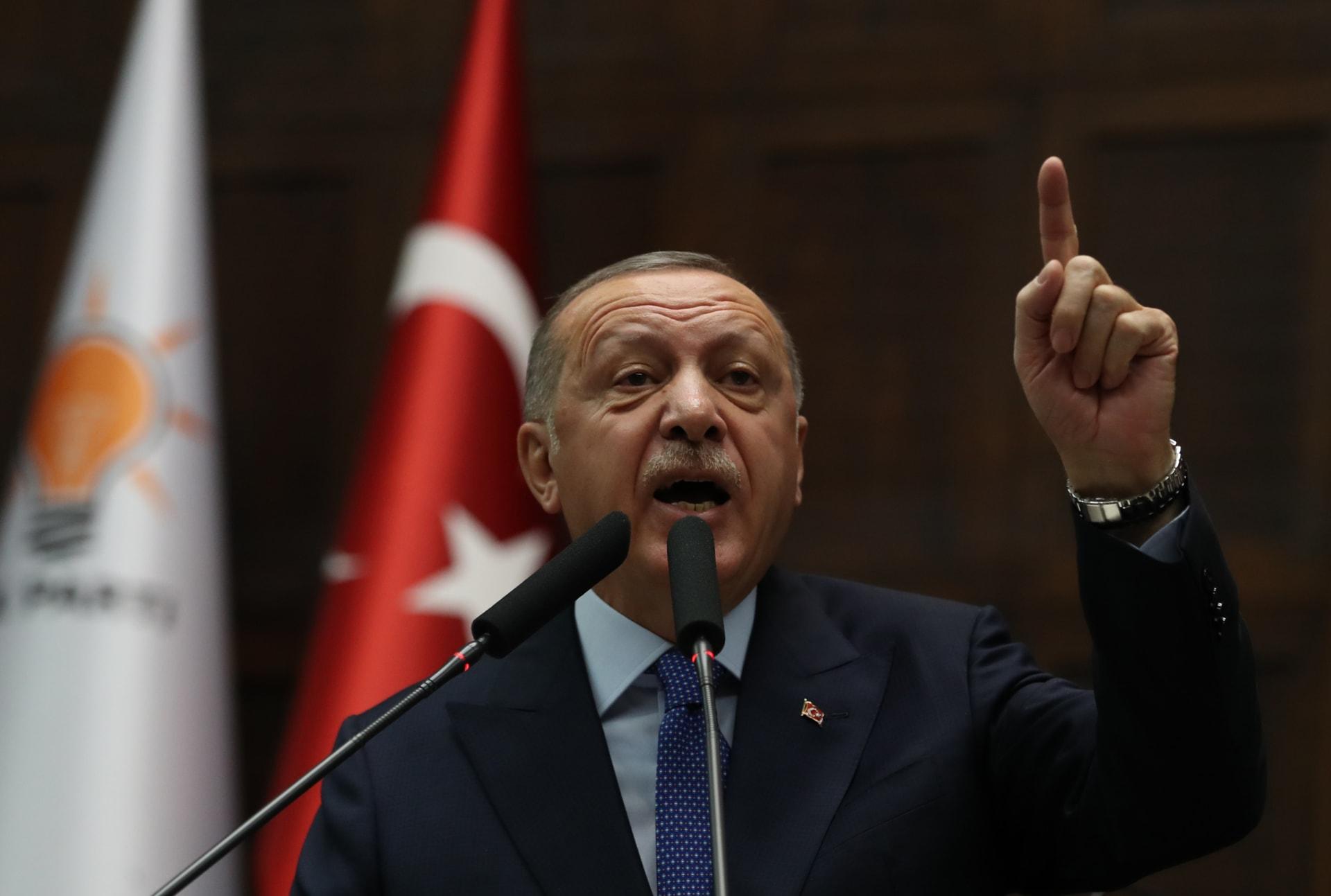 أردوغان: العملية العسكرية ستستمر إذا لم ينسحب الأكراد من شمال سوريا