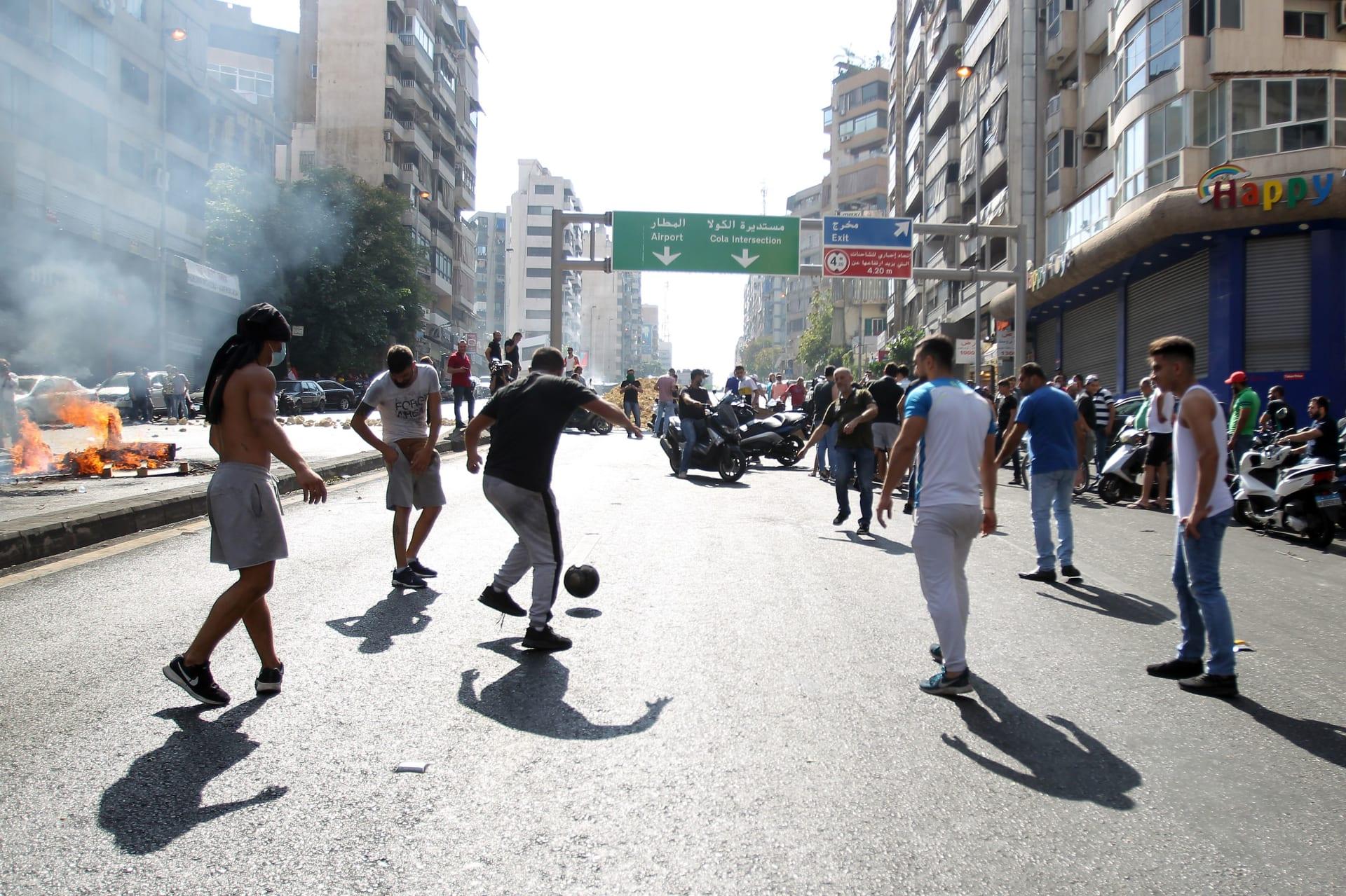 """بالصور.. الآلاف في مظاهرات تطالب بـ""""إسقاط النظام"""" في لبنان"""