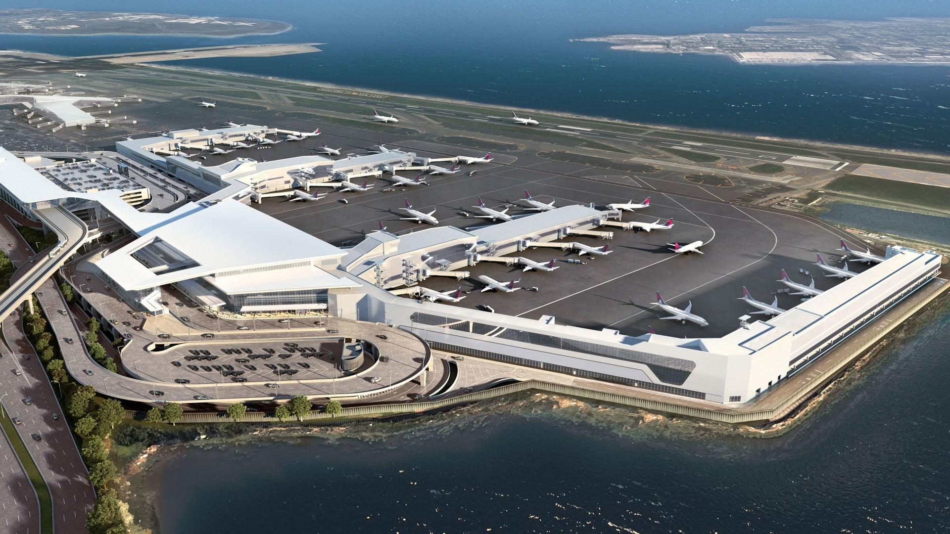 مطار لاغوارديا بنيويورك يكشف النقاب عن صالة جديدة بتكلفة 3.9 مليار دولار