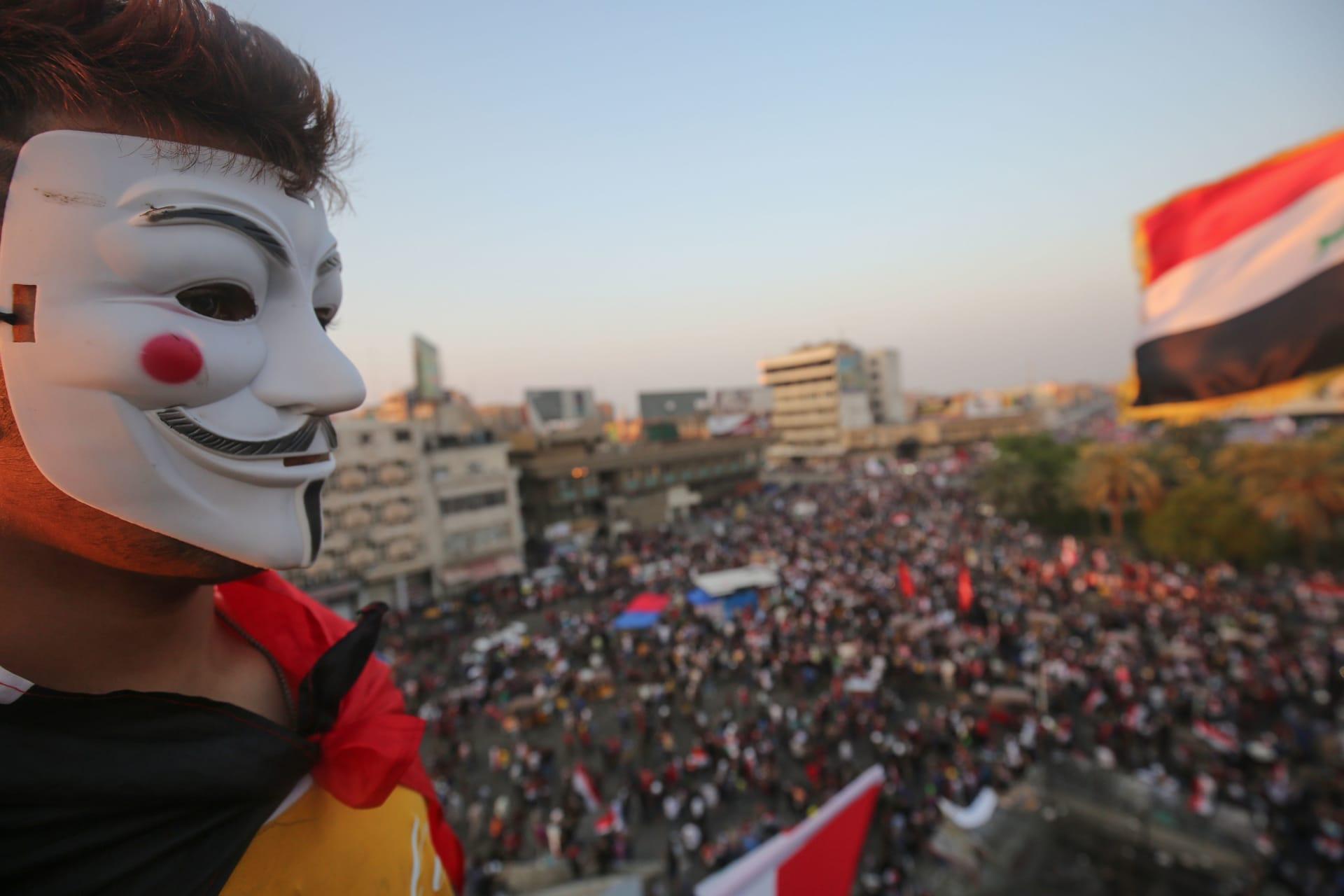 بالصور.. بغداد تشهد أكبر مظاهراتها منذ بدء الاحتجاجات