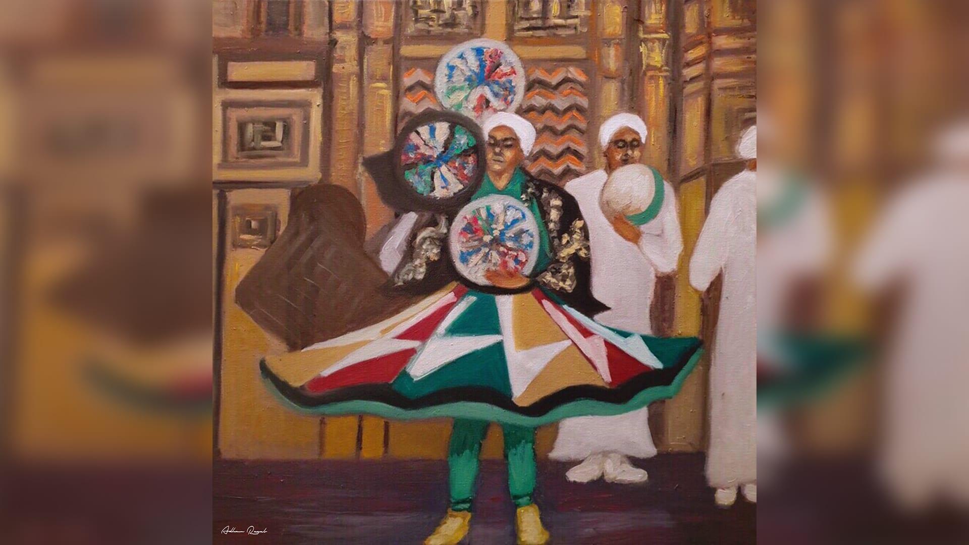 """لوحات زاهية بالألوان تبرز شخصيات """"القاهرة القديمة"""""""