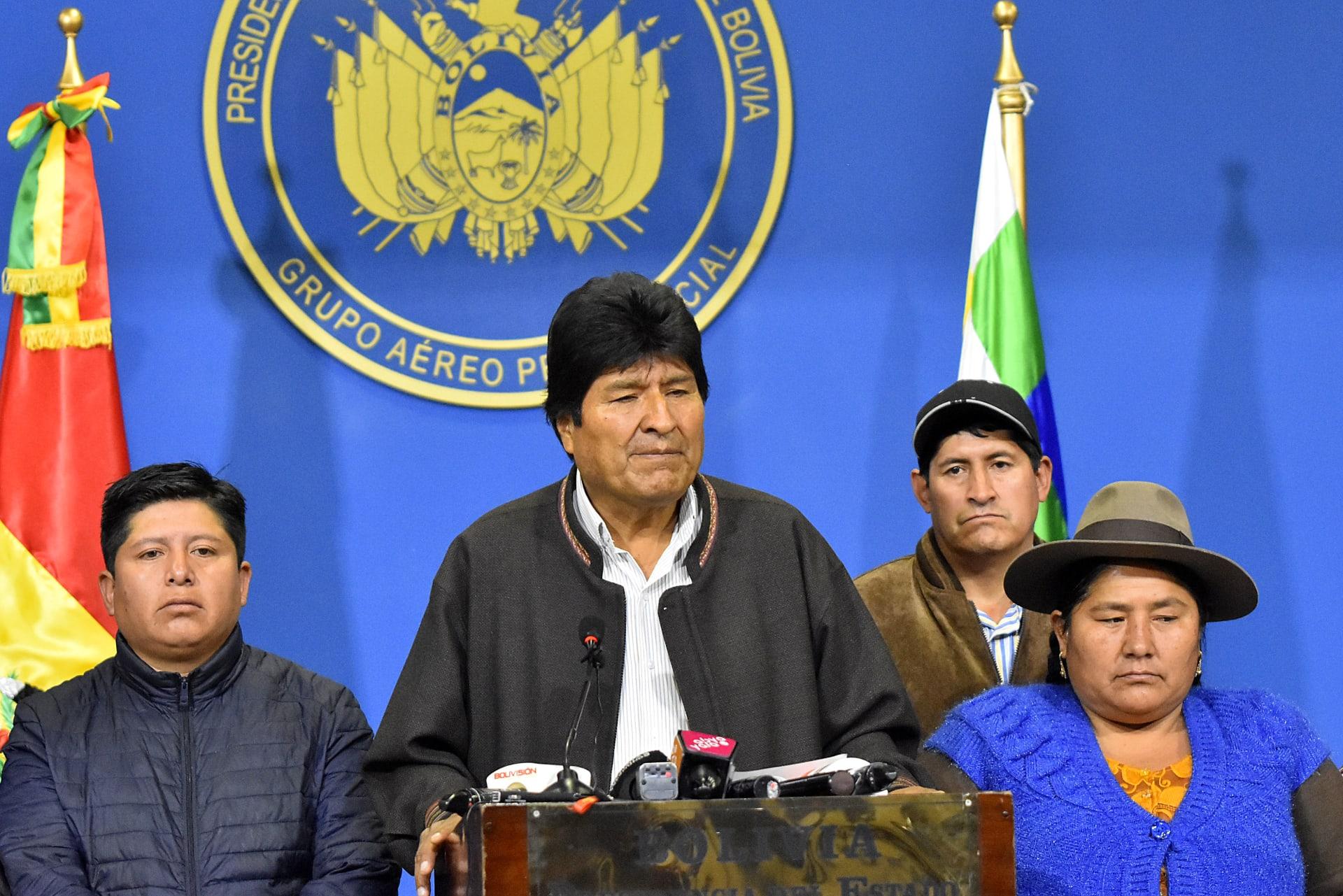 رئيس بوليفيا يعلن استقالته من منصبه بعد أسابيع من الاحتجاجات