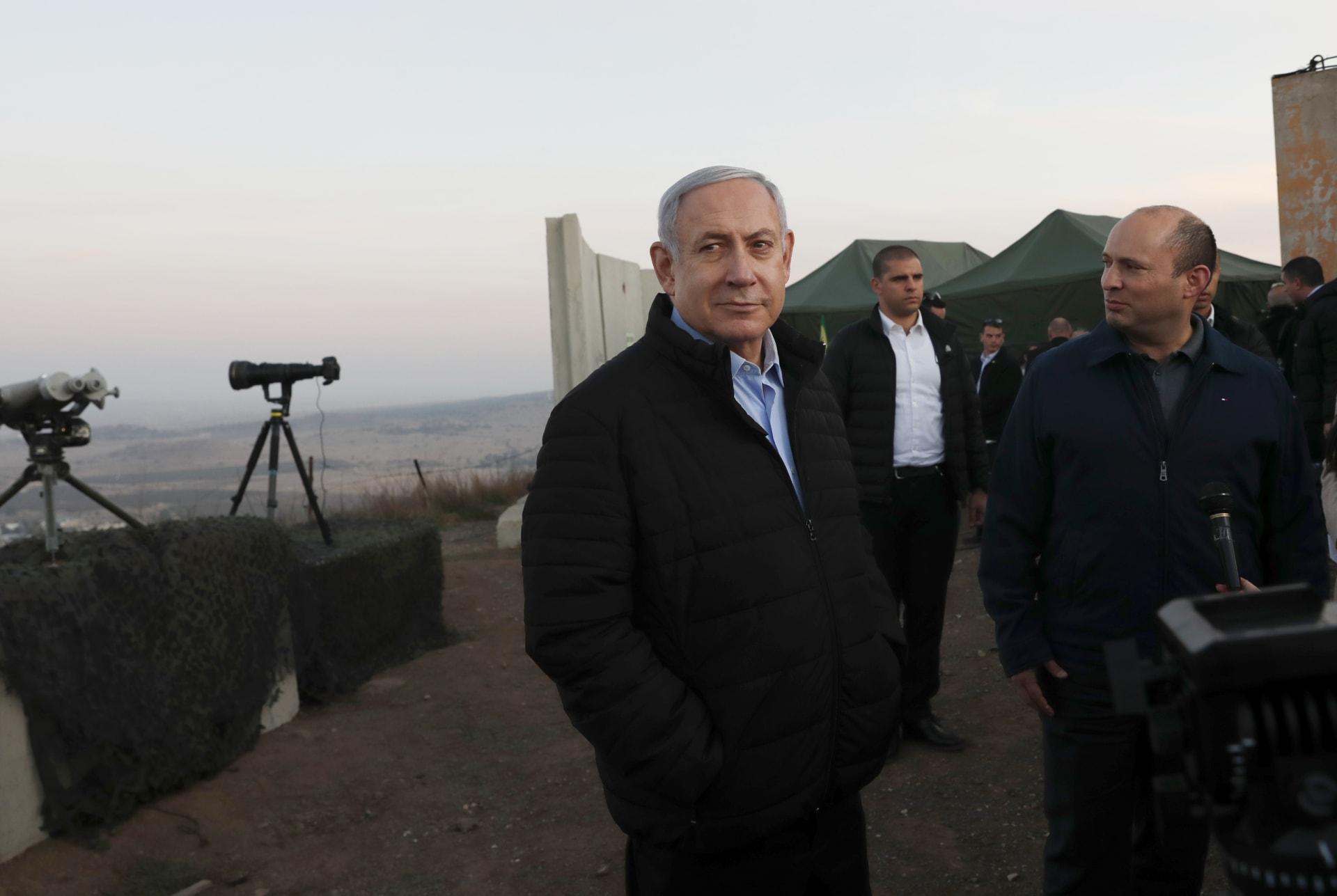 رئيس الوزراء الإسرائيلي نتنياهو في زيارة أمنية للجولان