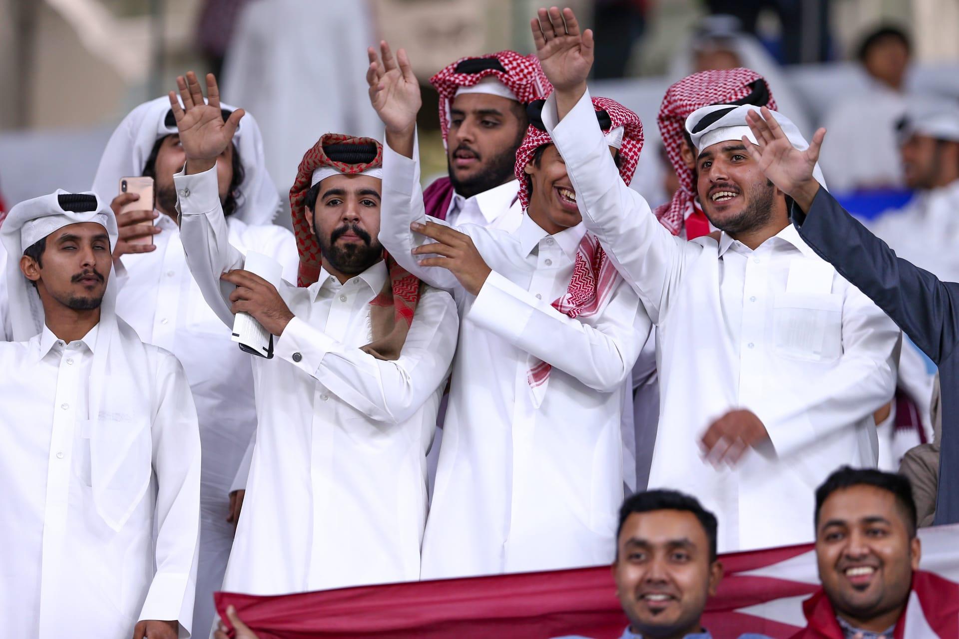 صورة للجماهير القطرية من مباراة السعودية وقطر
