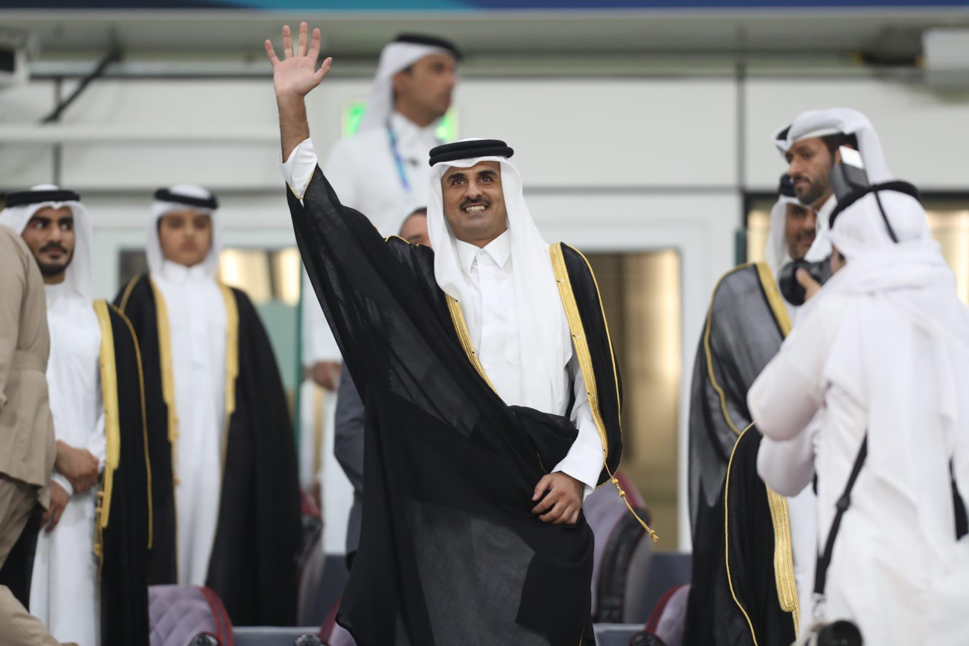 صورة أرشيفية لأمير قطر في نهائي كأس الأمير 2019