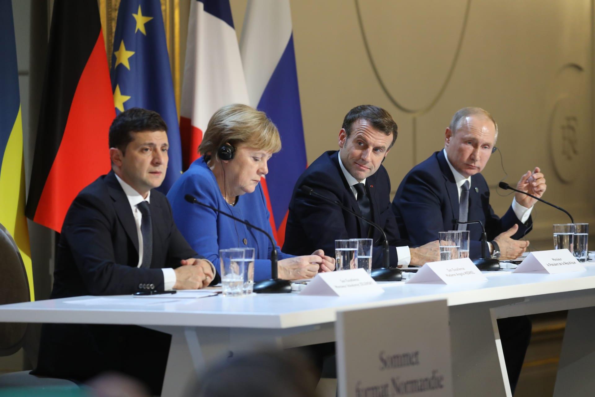 قمة رباعية بين قادة روسيا وفرنسا وألمانيا وأوكرانيا لمناقشة الأزمة في شرق أوكرانيا