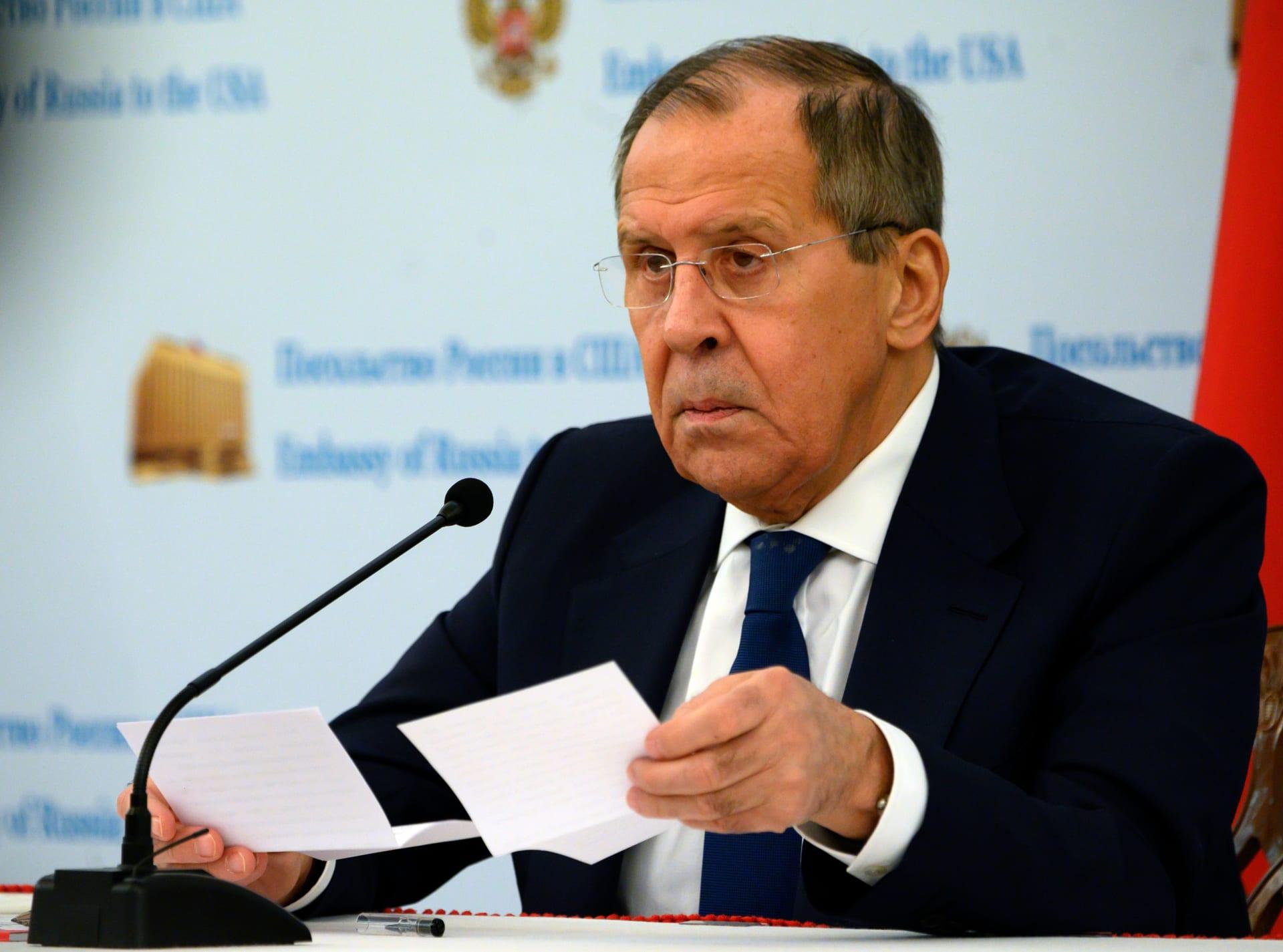 وزير الخارجية الروسي سيرجي لافروف