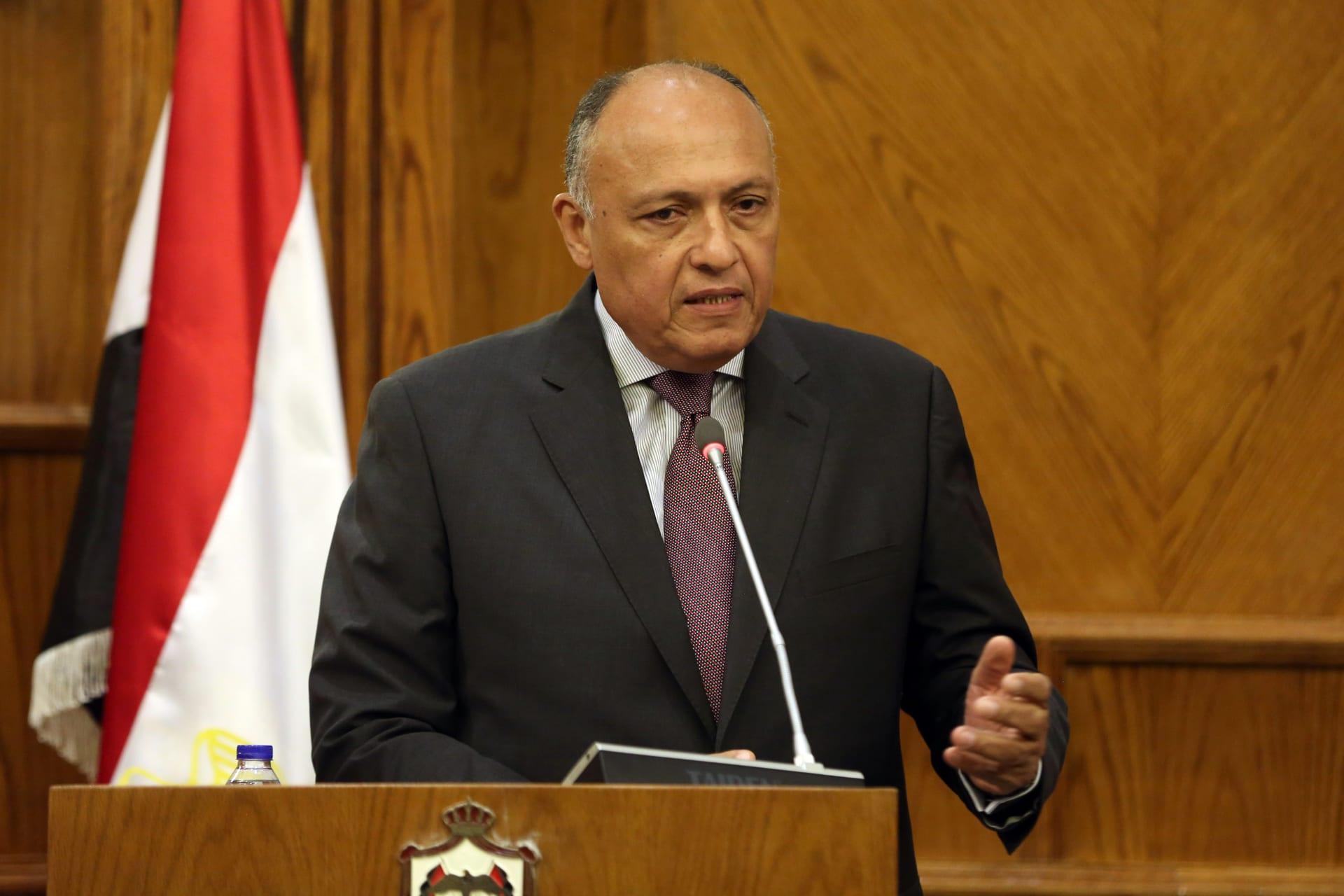 سامح شكري وزير خارجية مصر