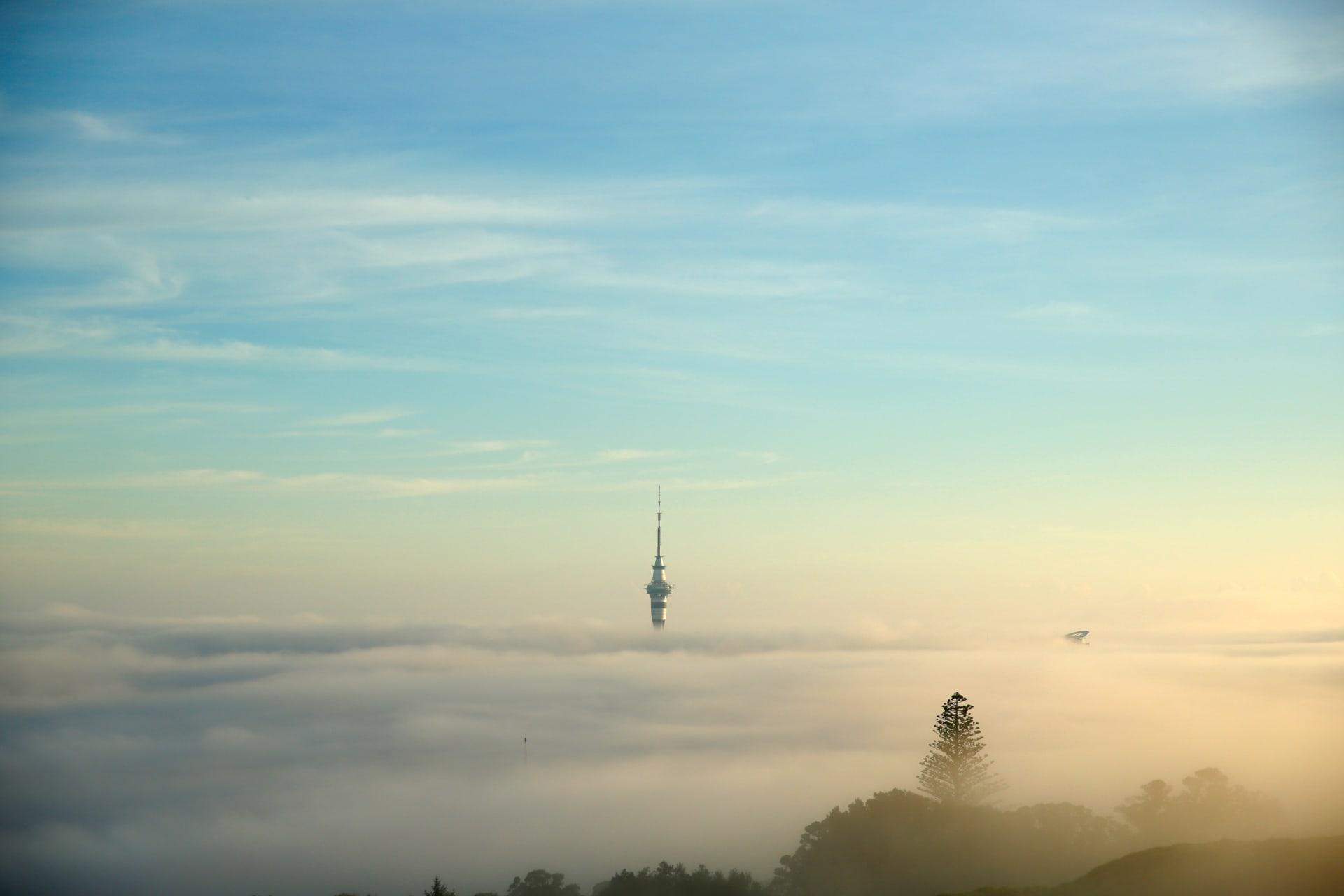 برج السماء في مدينة أوكلاند النيوزيلندية