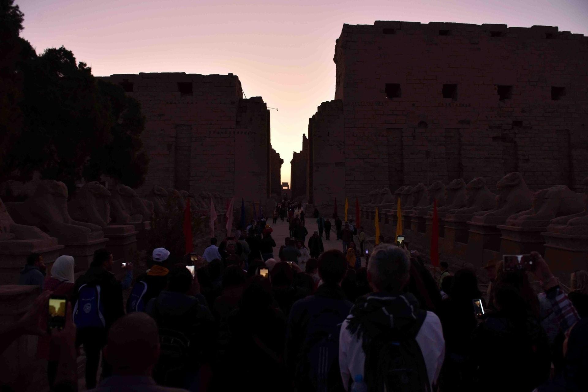 ظاهرة تعامد الشمس على معبد الكرنك