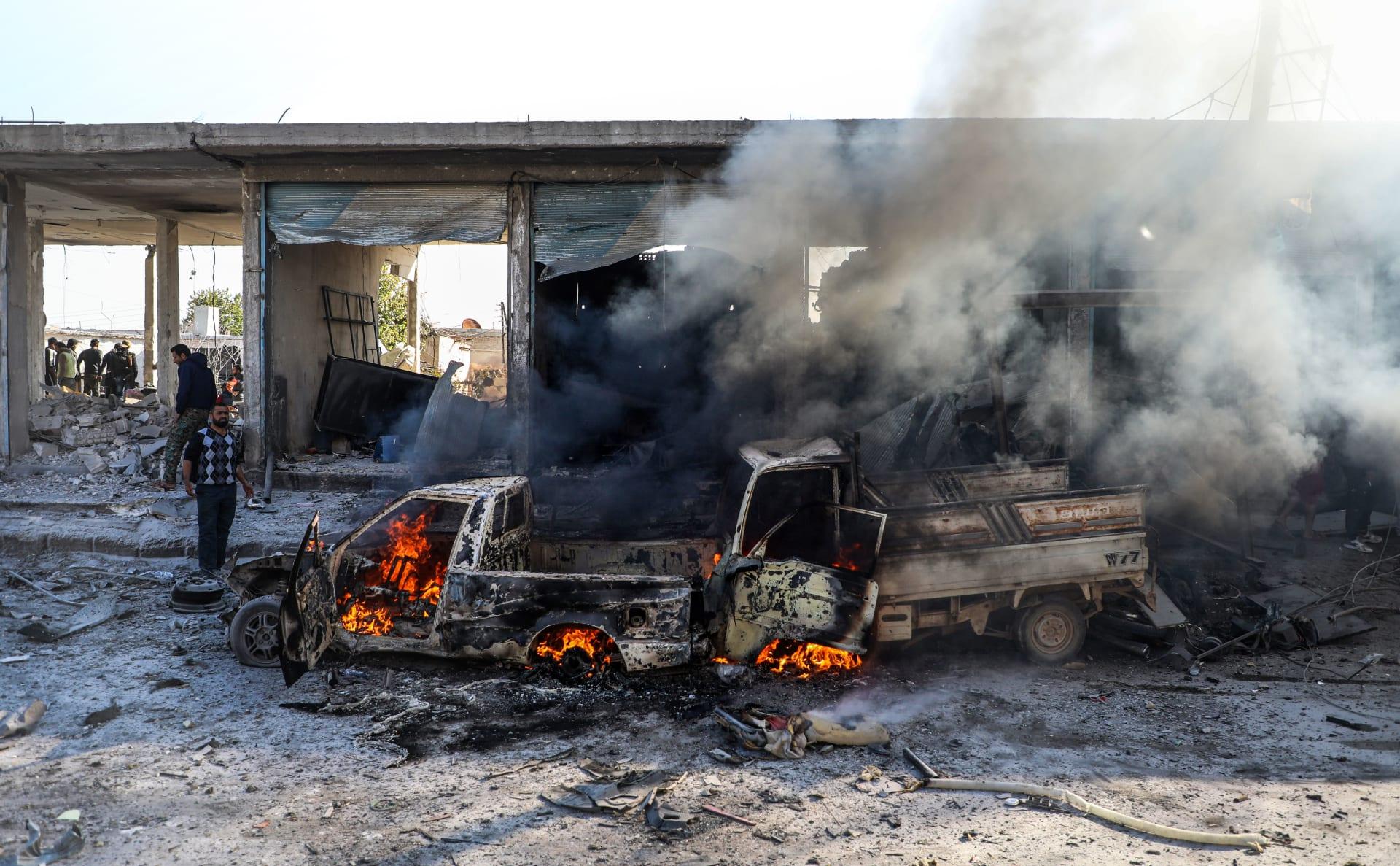 انفجار سيارة مفخخة في منطقة تل الأبيض في شمال شرق سوريا