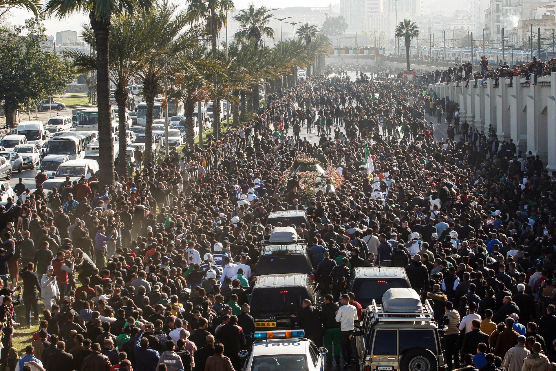 جنازة رئيس أركان الجيش الجزائري أحمد قايد صالح