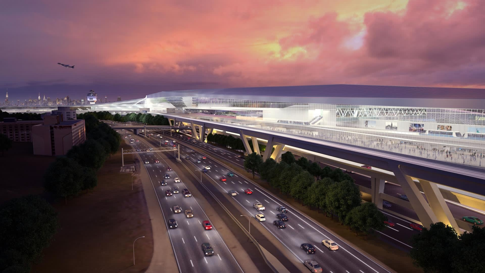 مطار لاغوارديا في نيويورك