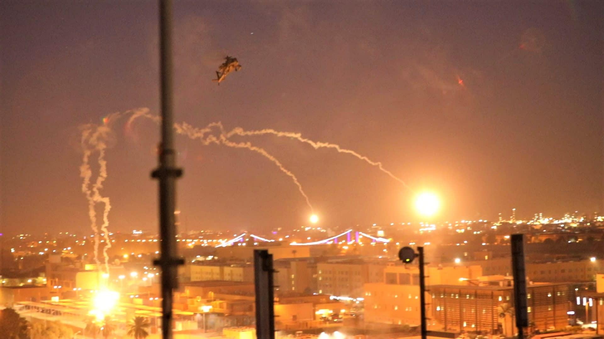 العراق.. سقوط صاروخين على الأقل في محيط المنطقة الخضراء