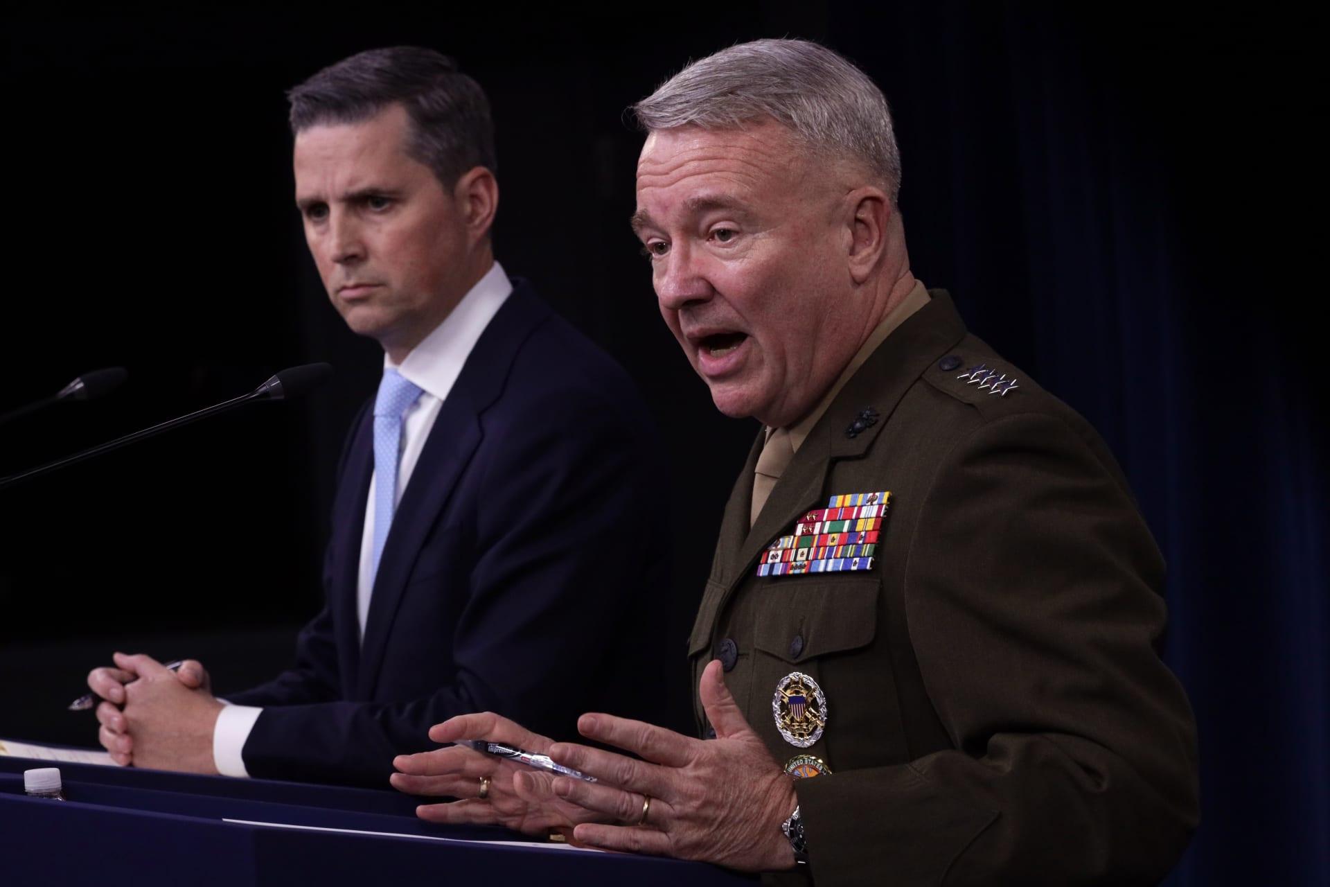 البنتاغون: الضربات الباليستية الإيرانية استهدفت قاعدتين تضمان قوات أمريكية بالعراق