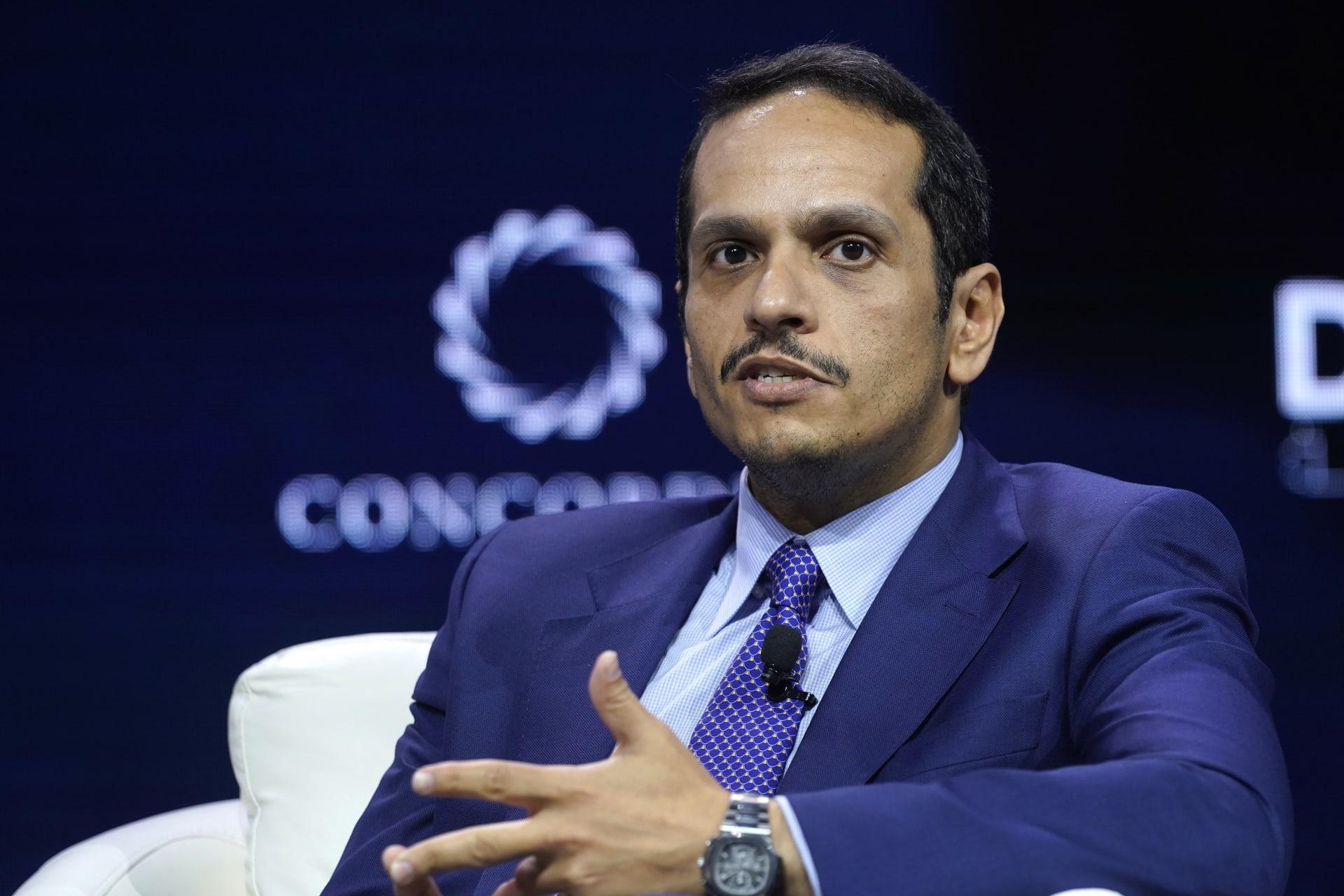 وزير خارجية قطر: أجرينا اتصالات للتهدئة وخفض التصعيد في المنطقة