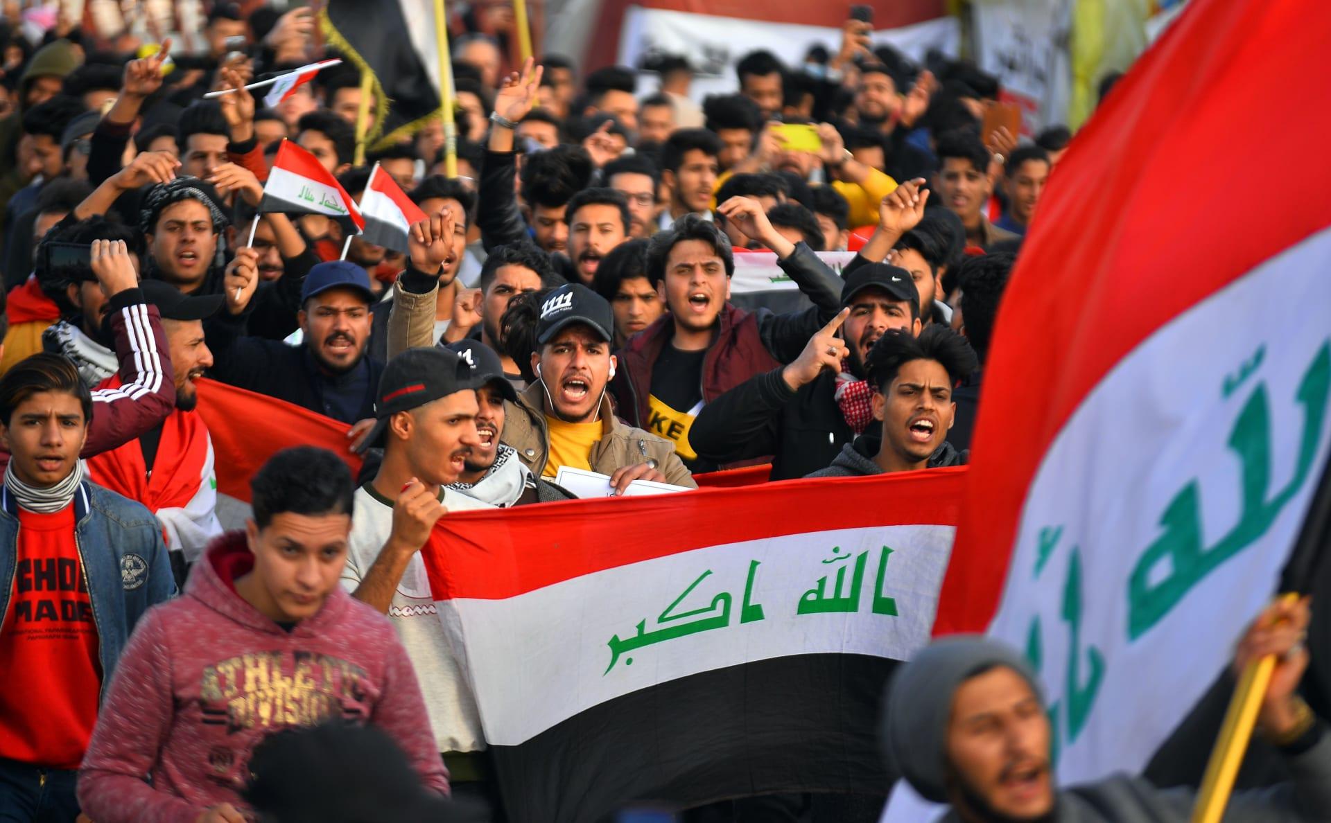 استمرار الاحتجاجات المناوئة للحكومة في العراق
