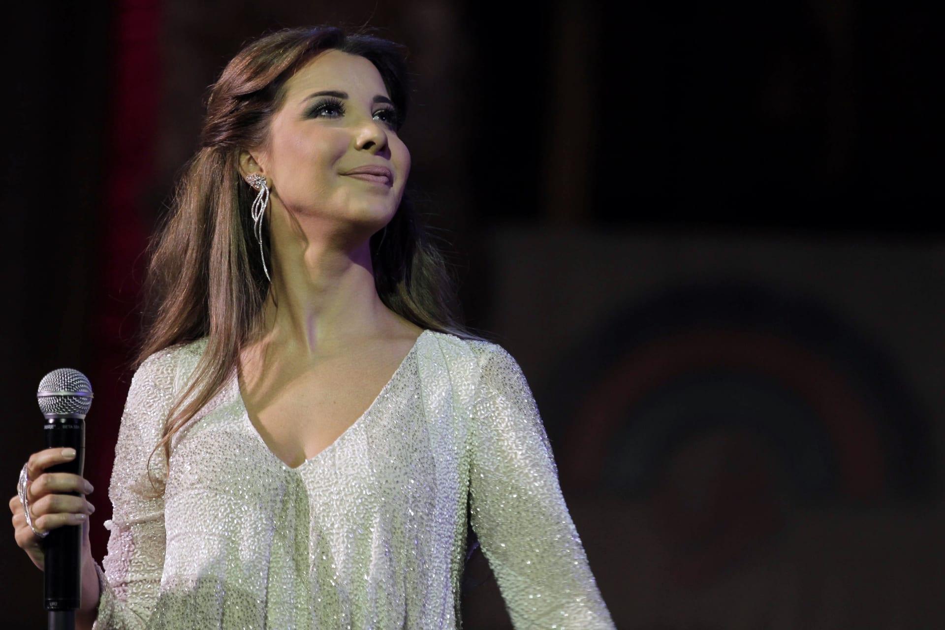 المغنية اللبنانية نانسي عجرم في مهرجان جرش للثقافة والفنون، في الأردن