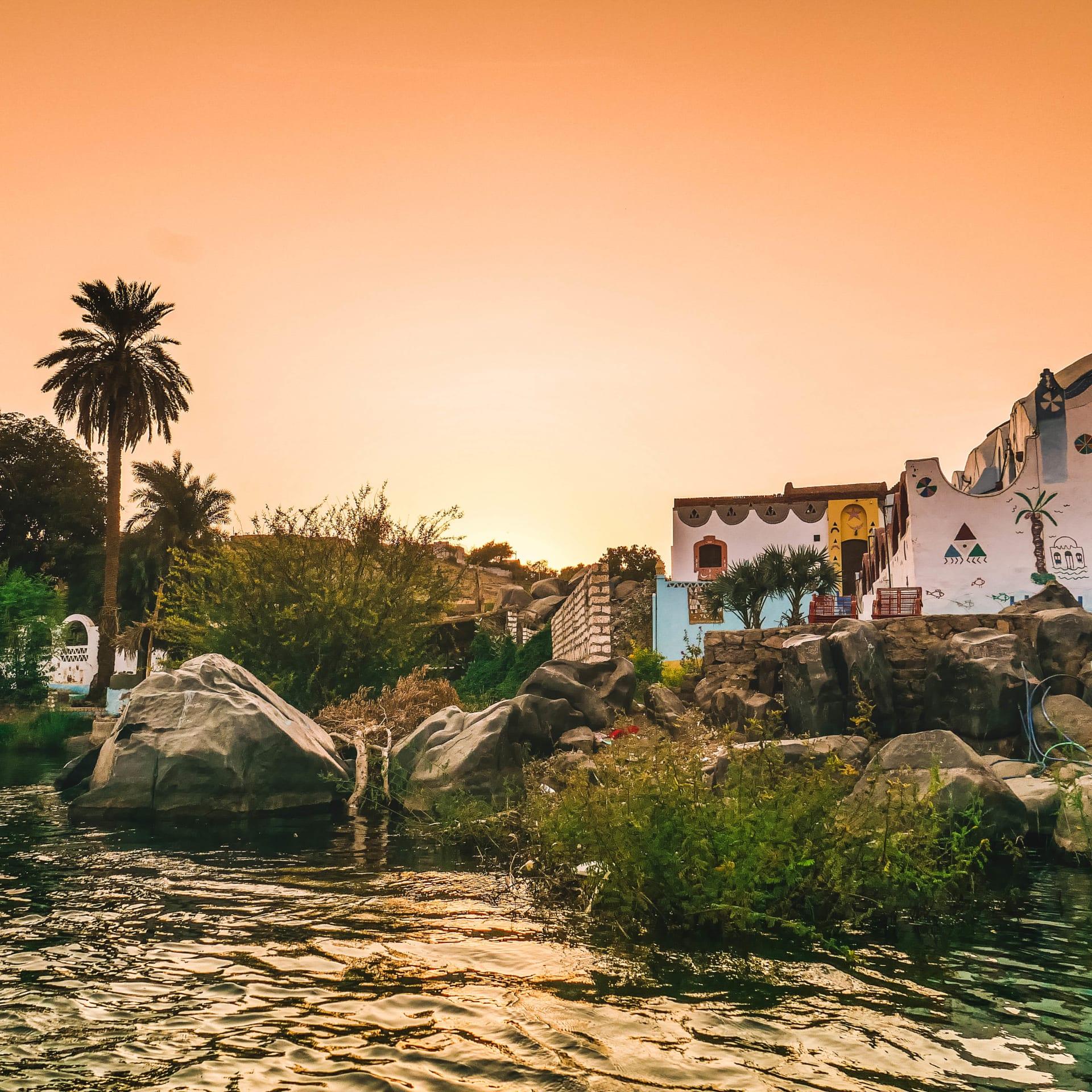 قرية غرب سهيل النوبية في أسوان