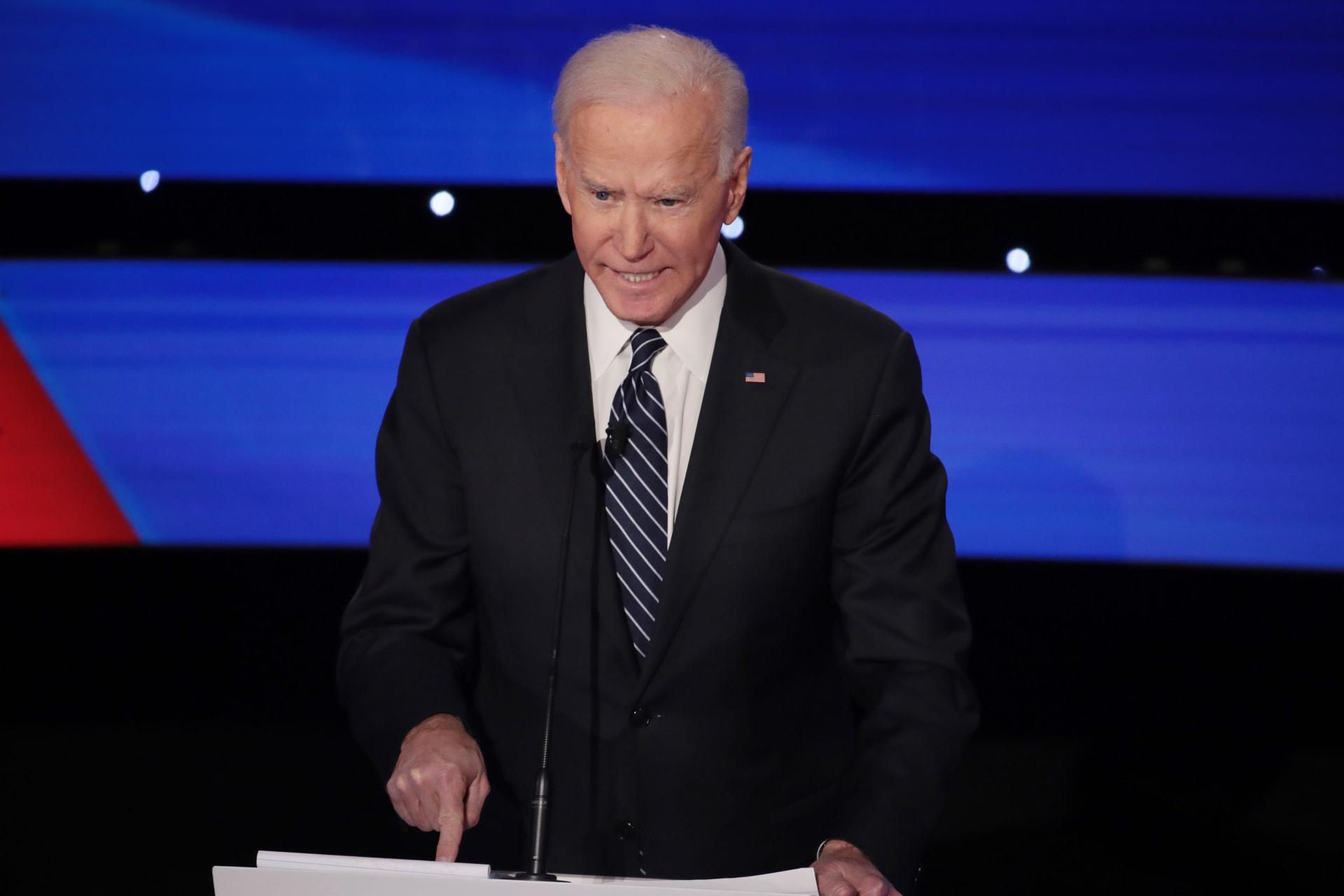 جو بايدن المرشح الديمقراطي المحتمل في انتخابات الرئاسة الأمريكية