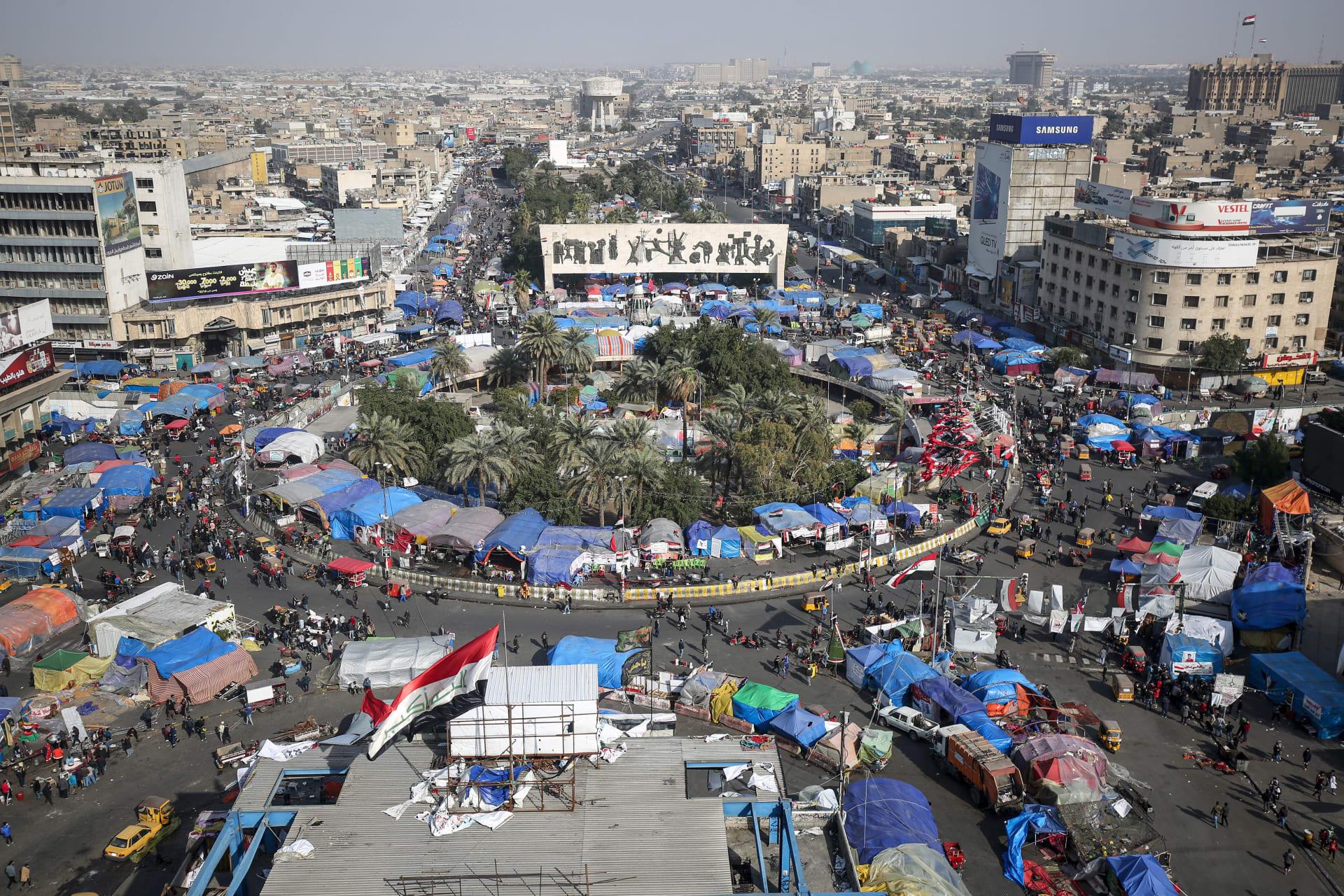 ساحة التحرير في وسط العاصمة العراقية بغداد