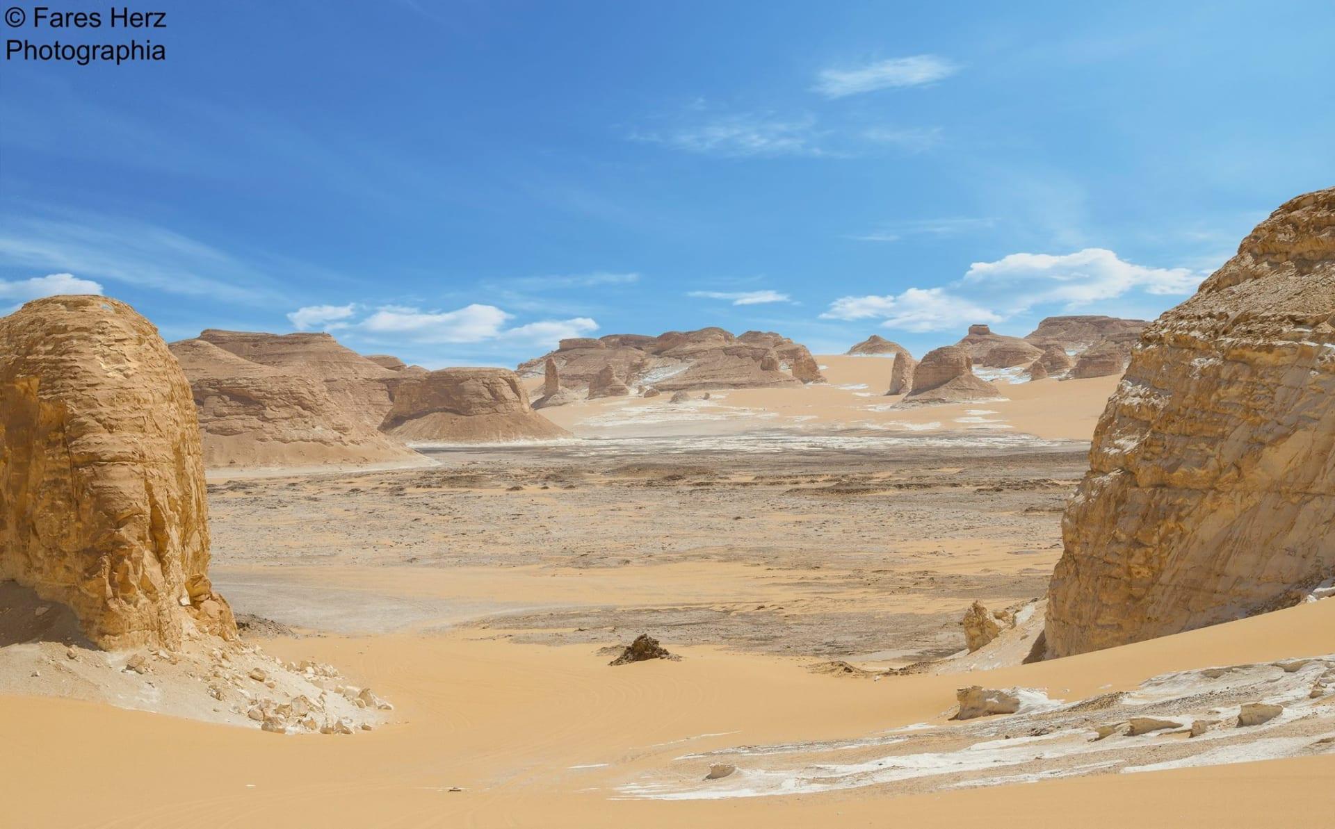 منطقة وادي العقبات في الصحراء البيضاء