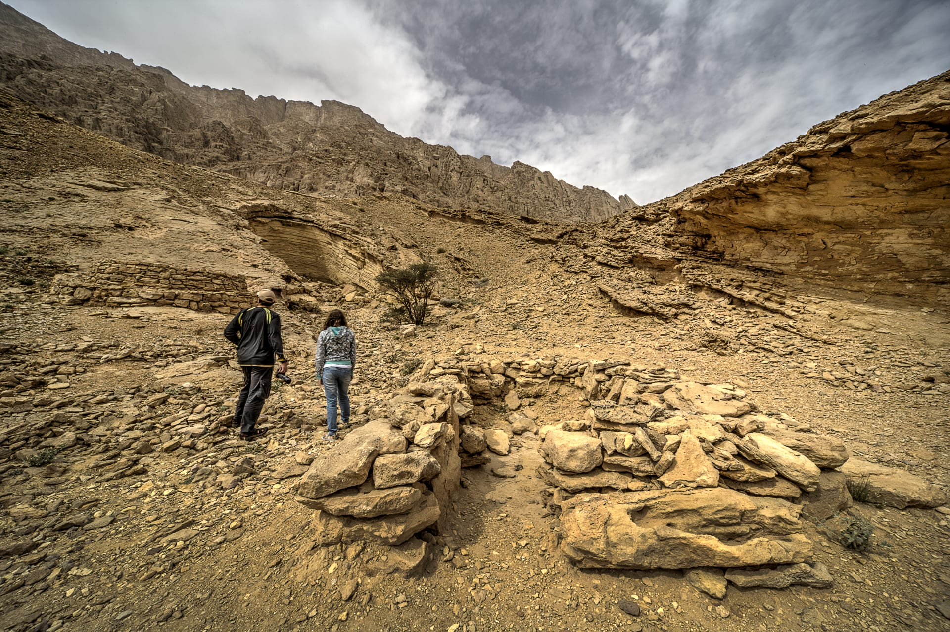 """مصور يستكشف هياكل صخرية تشبه""""خلايا النحل"""" في الإمارات"""