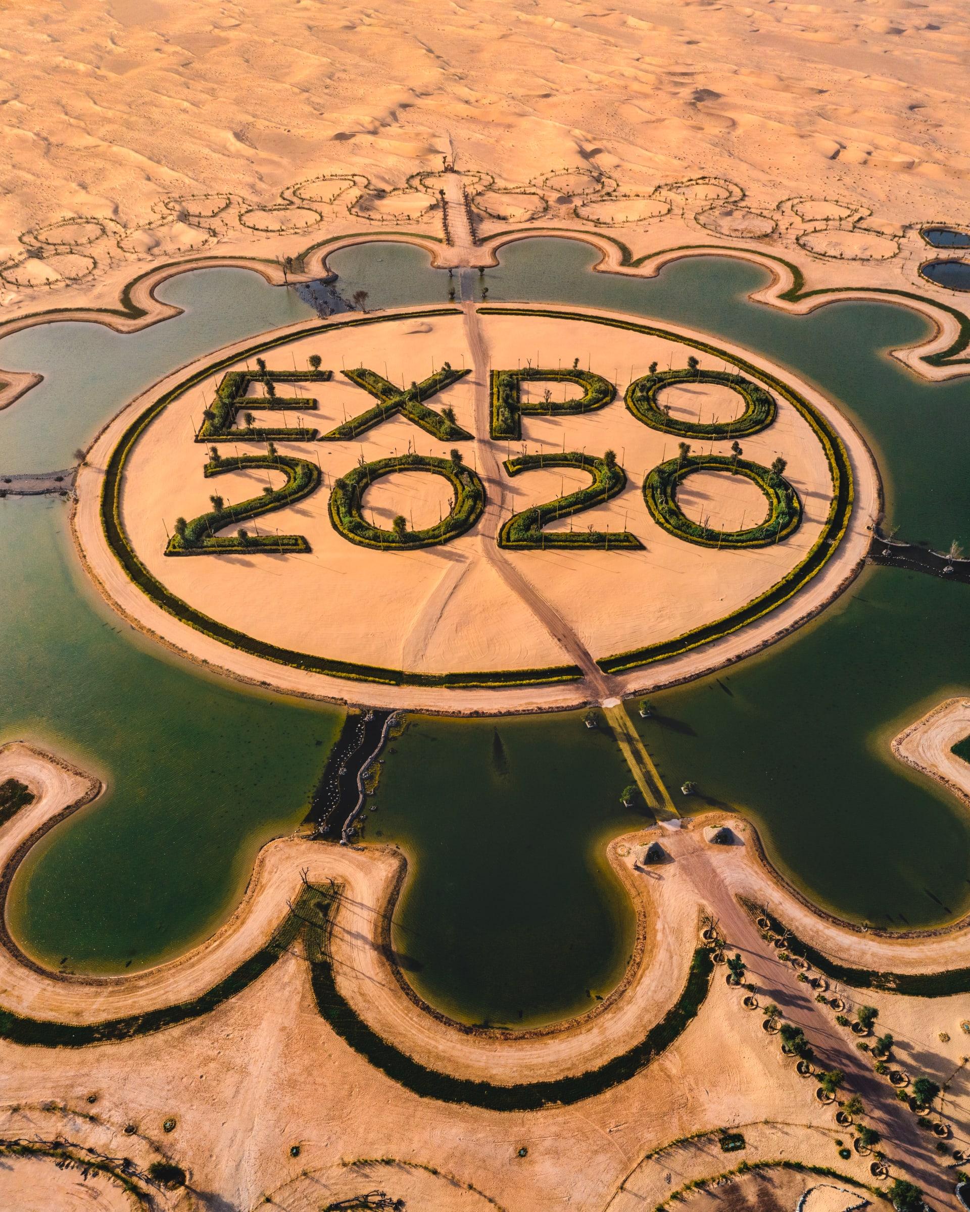 """بحيرة """"إكسبو 2020"""" تزين صحراء دبي"""