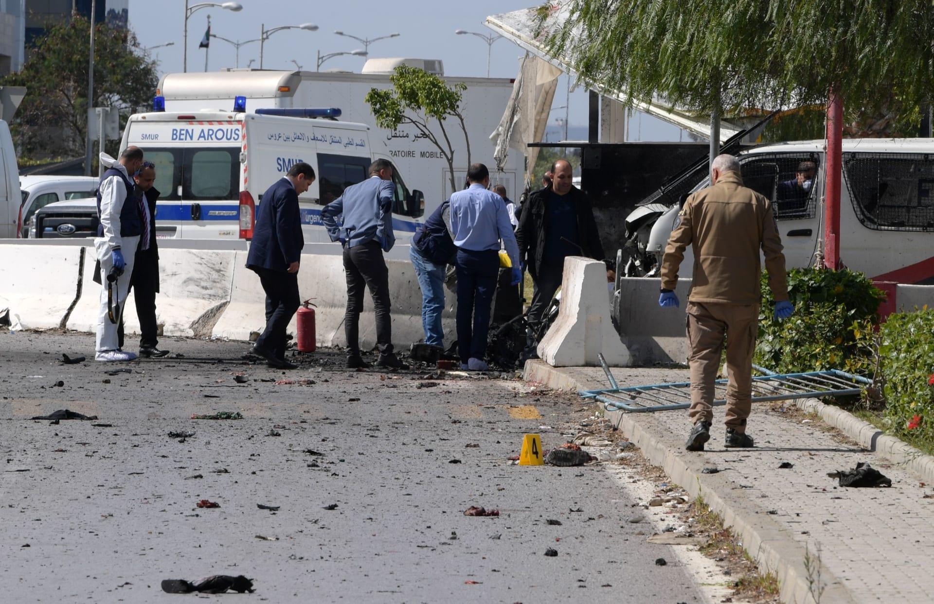 تفجير انتحاري بالقرب من السفارة الأمريكية بتونس