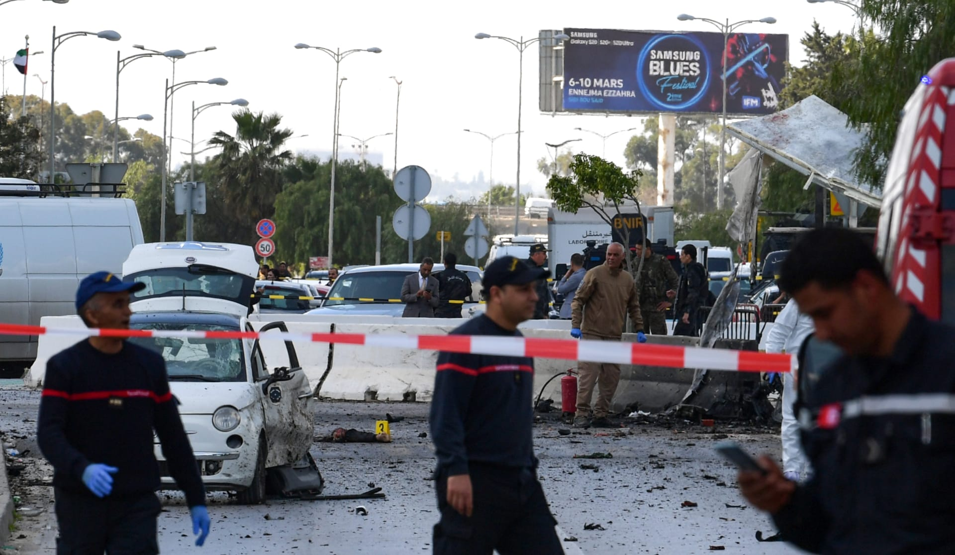 انفجار انتحاري بالقرب من السفارة الأمريكية بتونس