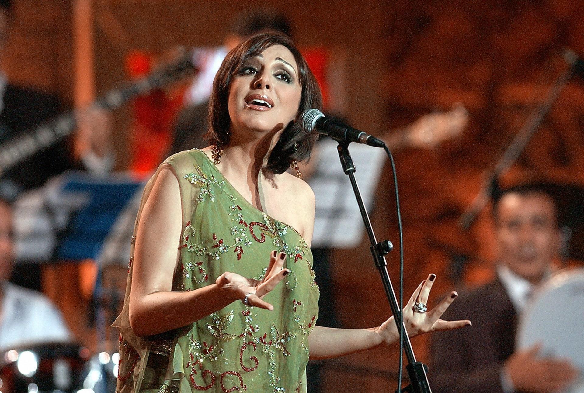 المغنية المصرية أنغام خلال مهرجان قرطاج الدولي
