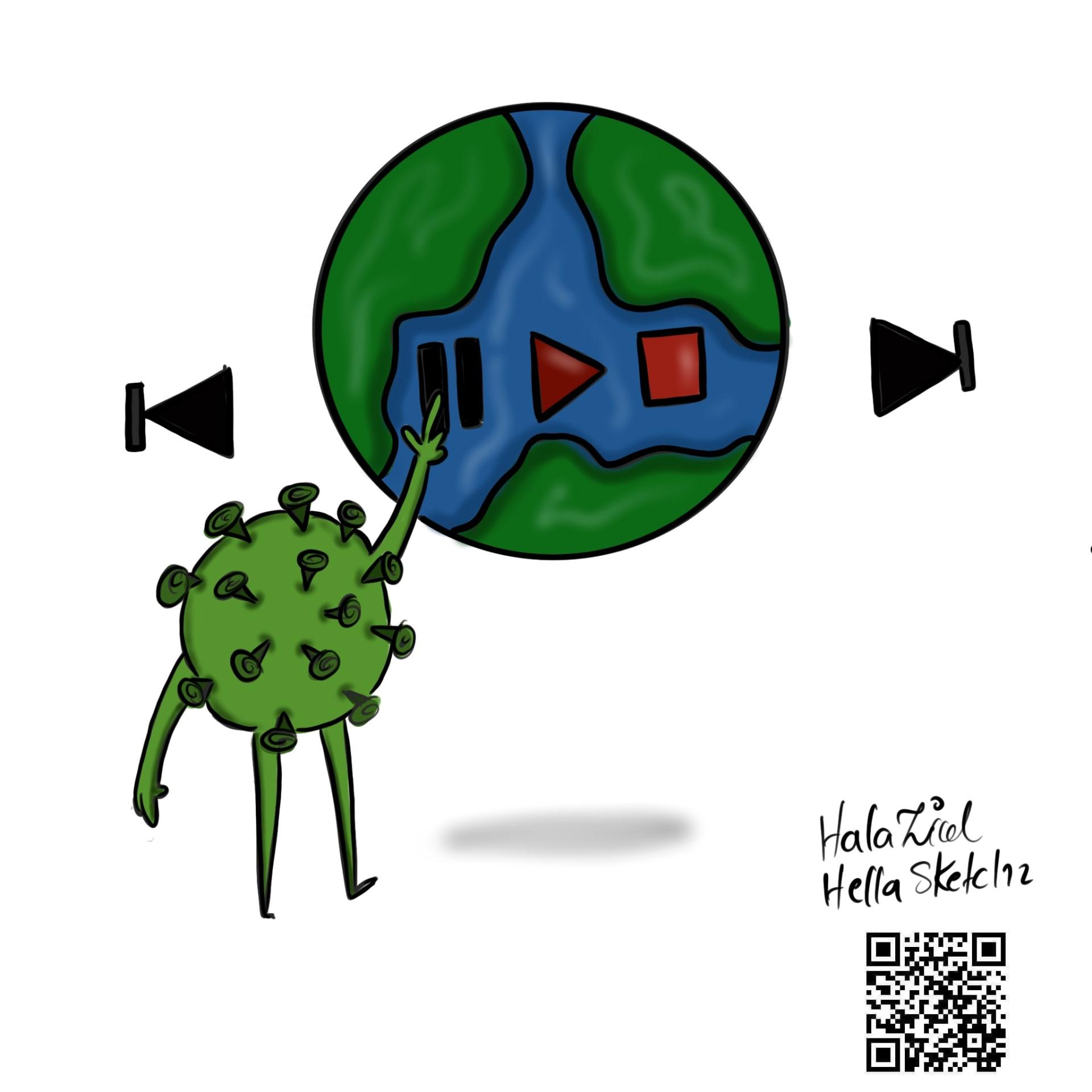 رسومات تجسد فيروس كورونا
