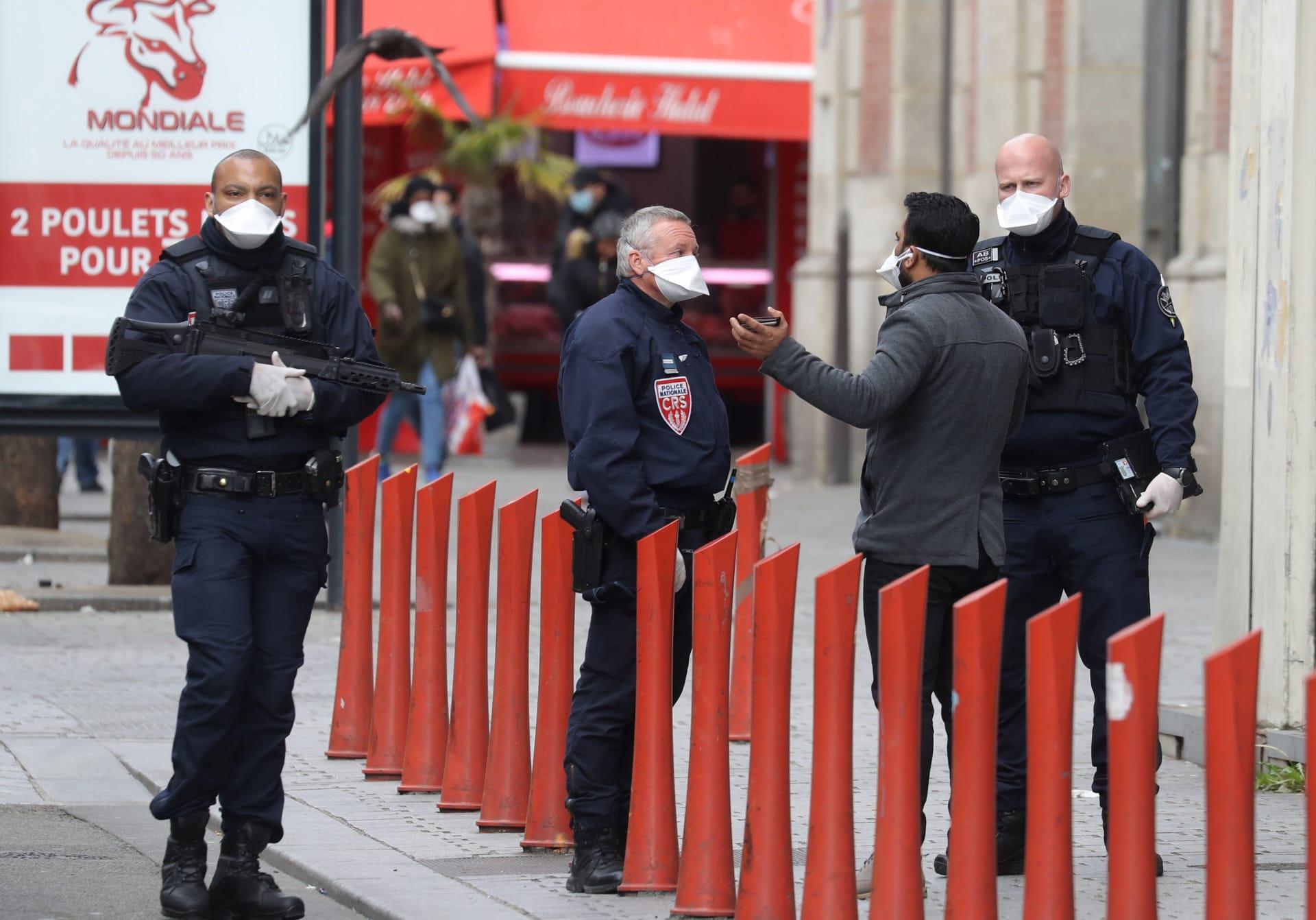 صورة ارشيفية لعناصر بالأمن الفرنسي (صورة تعبيرية ليست من موقع الهجوم)