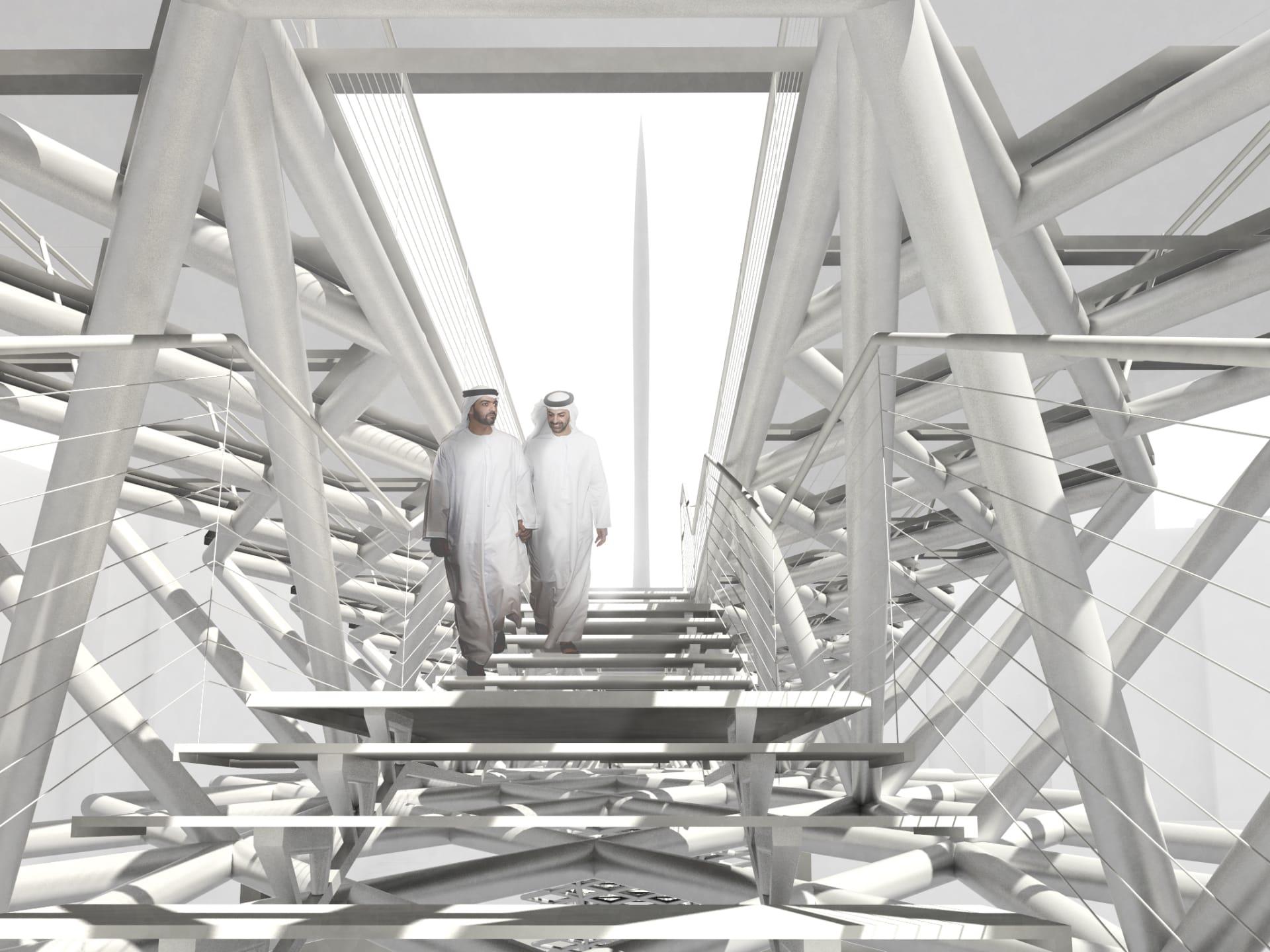 الكشف عن أحدث أعمال مشروع خور دبي العملاق..جسر للمشاة سيؤدي إلى أطول برج في العالم
