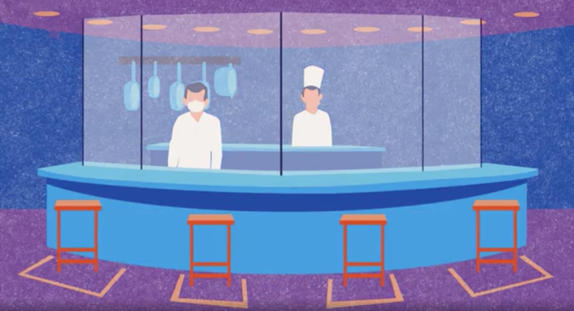 كيف سيبدو تناول الطعام في المطاعم في ظل جائحة فيروس كورونا؟