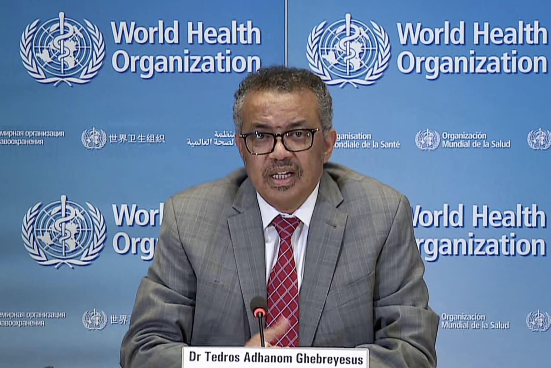 المدير العام لمنظمة الصحة العالمية تيدروس أدهانوم غبريسوس