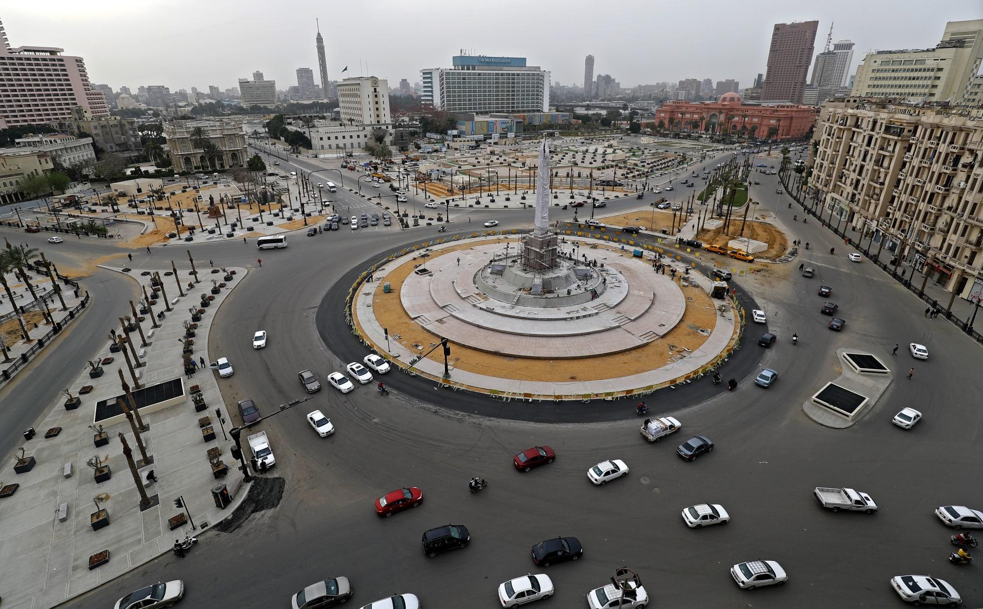 ميدان التحرير بوسط العاصمة المصرية القاهرة