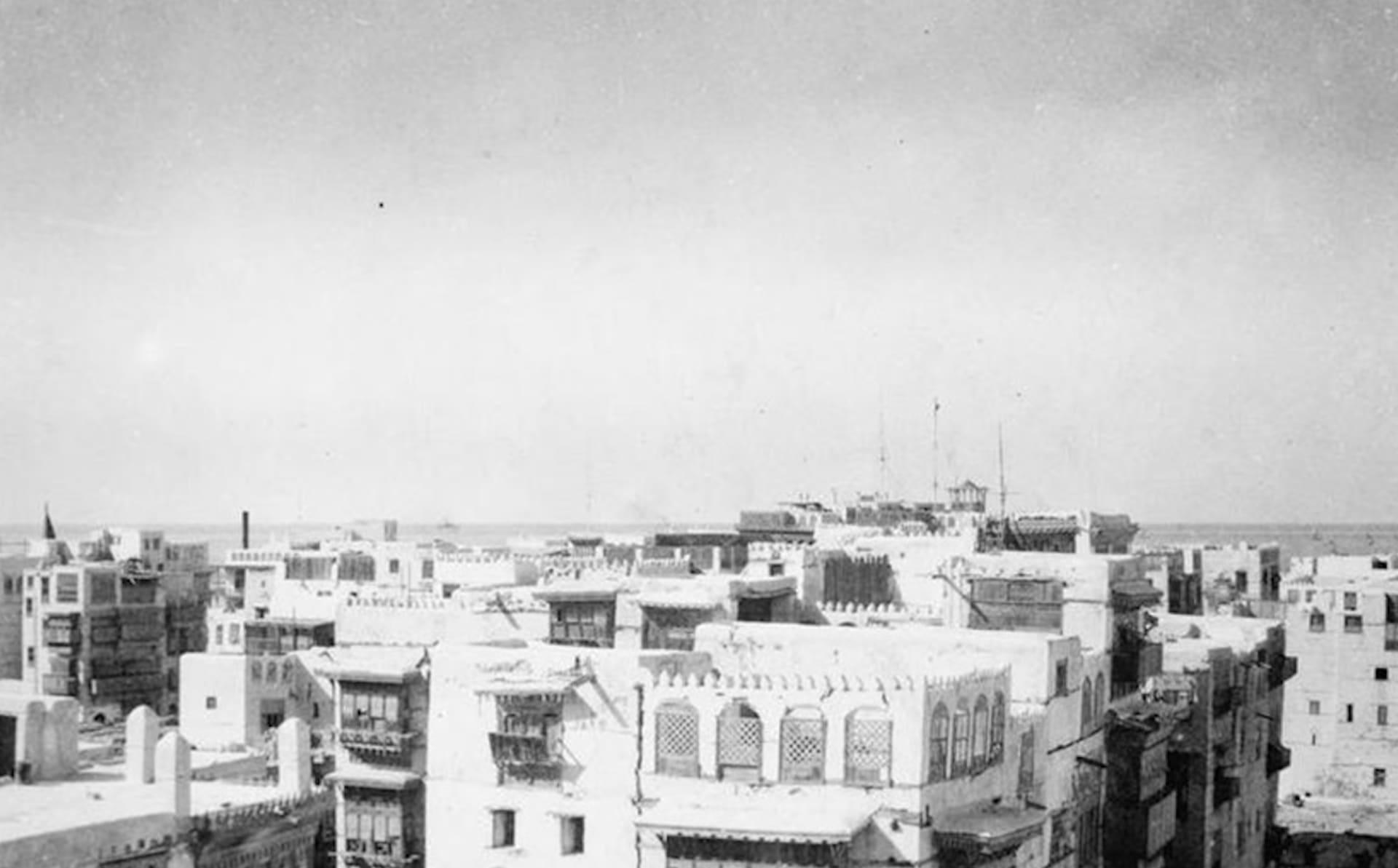 صورة تبرز مدينة جدة في عام 1918